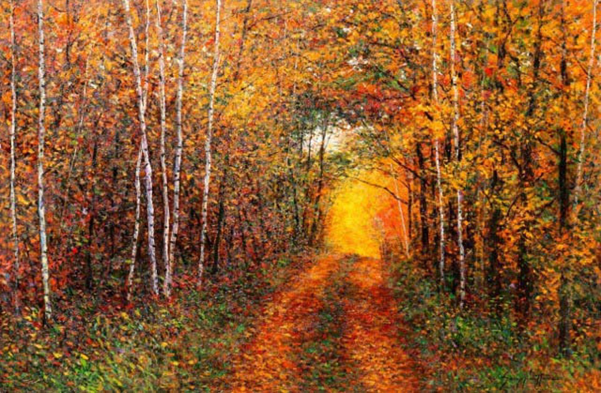 An Autumn Lane by James Scoppettone