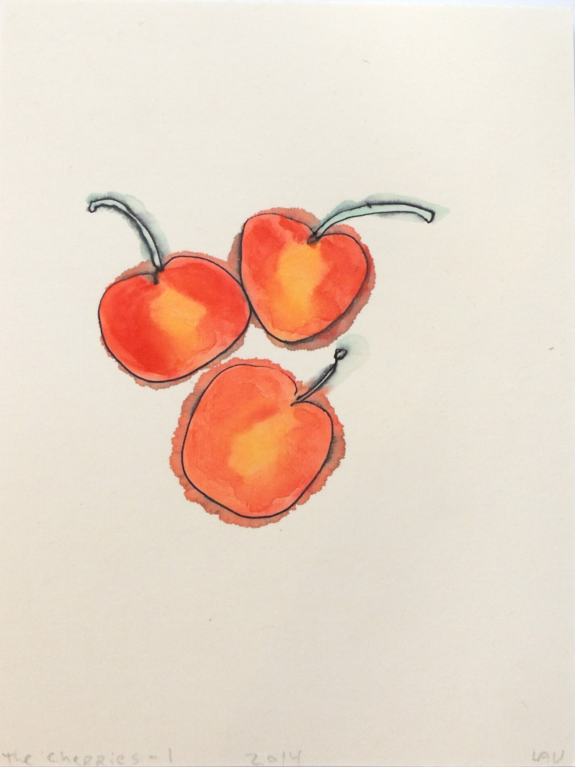 the cherries-1 by Alan Lau | Small Works
