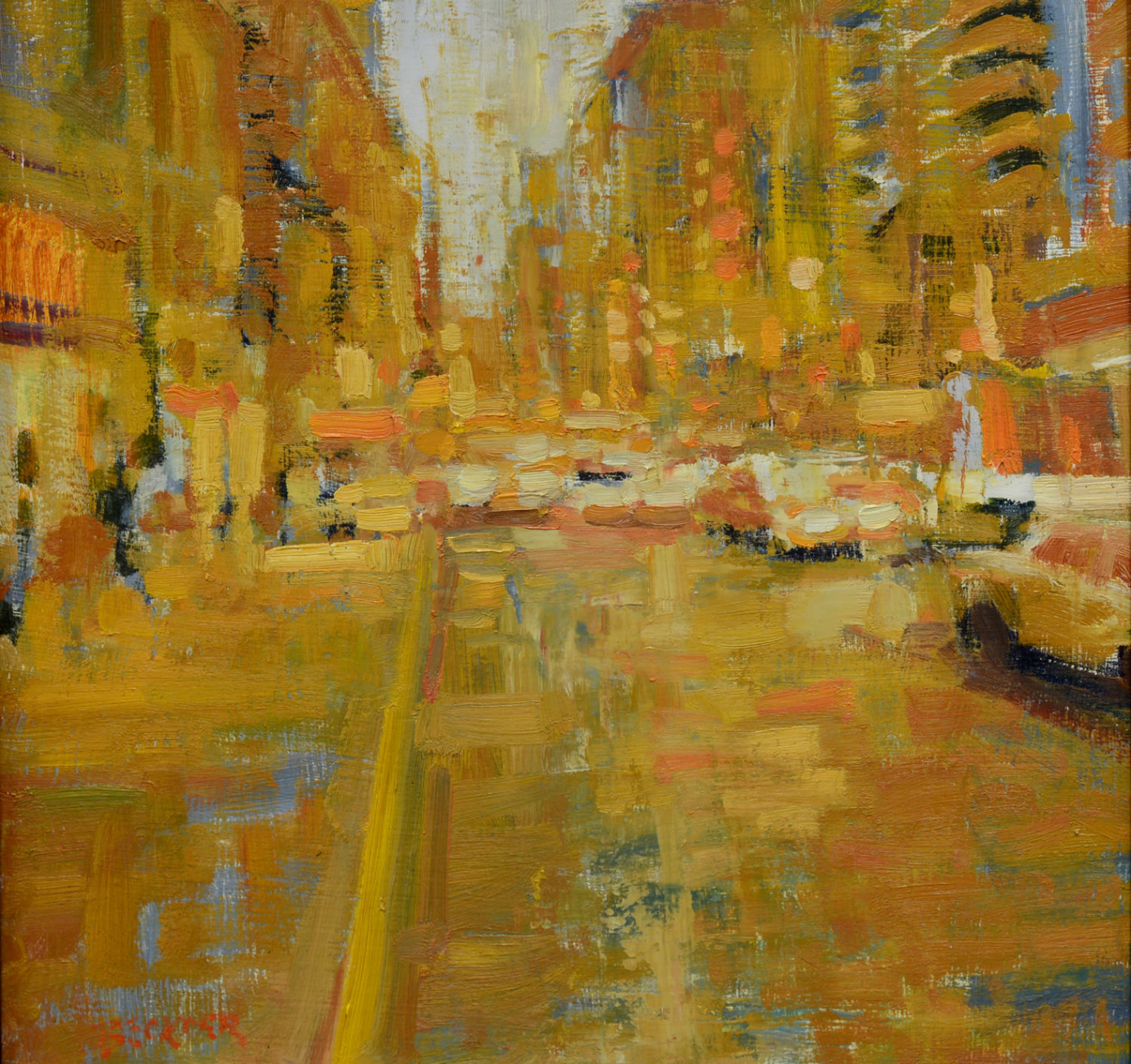 City in Yellow by Jim Beckner