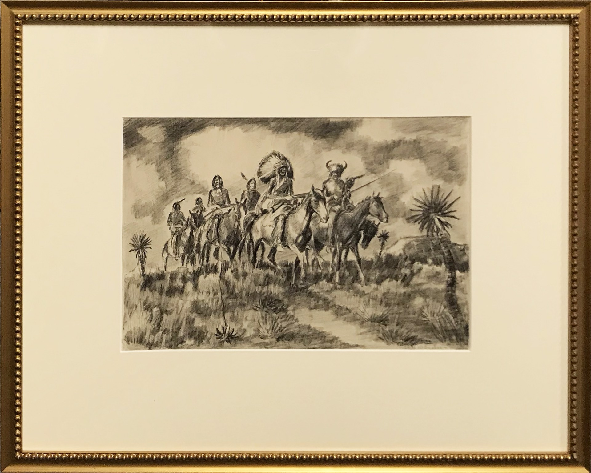 Indians on Horseback by Harold Bugbee
