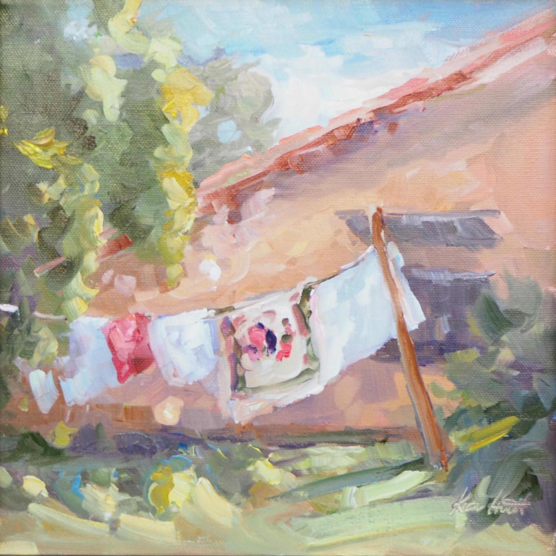 Laundry Day, Tuscany by Karen Hewitt Hagan