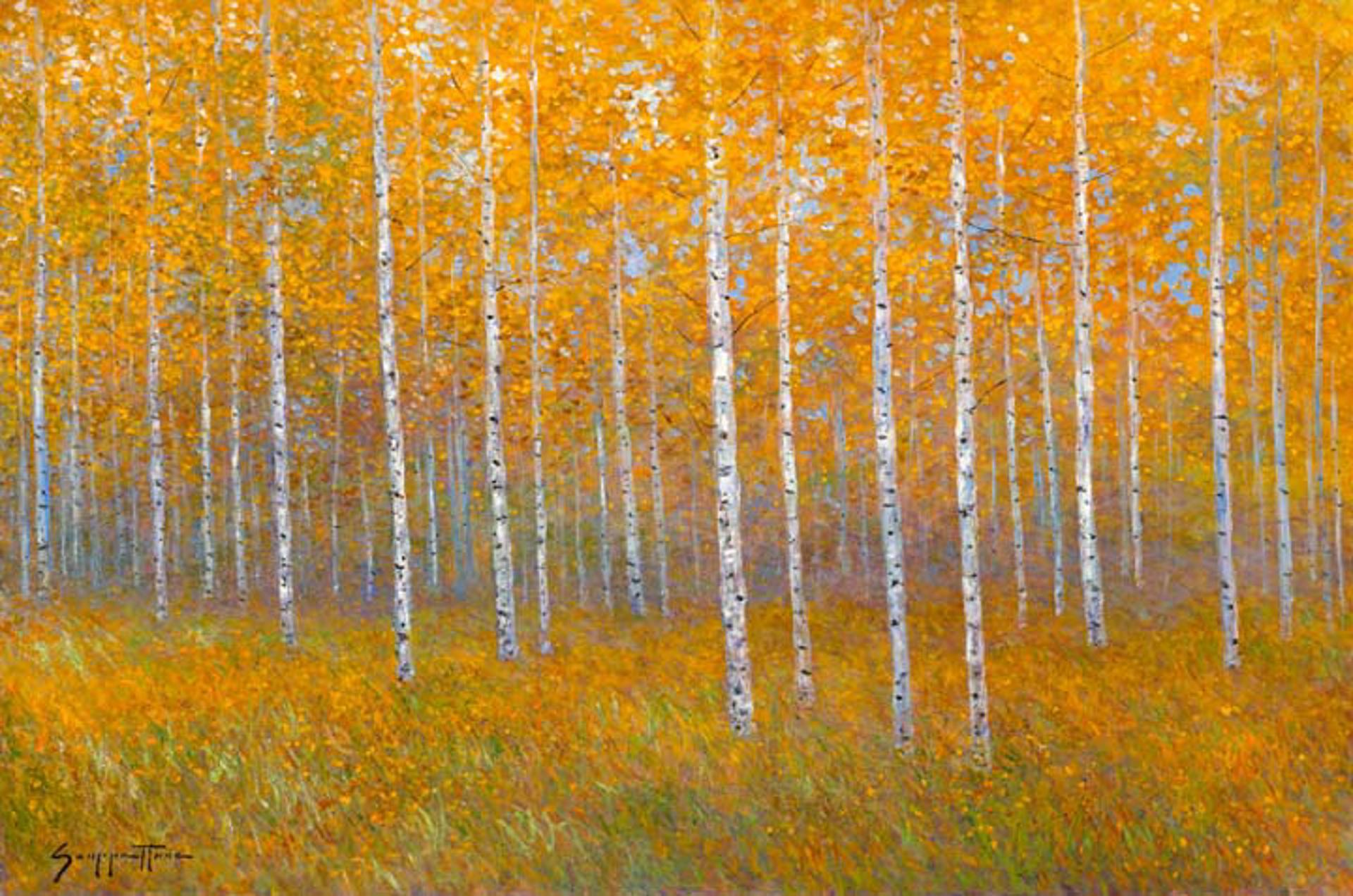 Golden Aspens by James Scoppettone