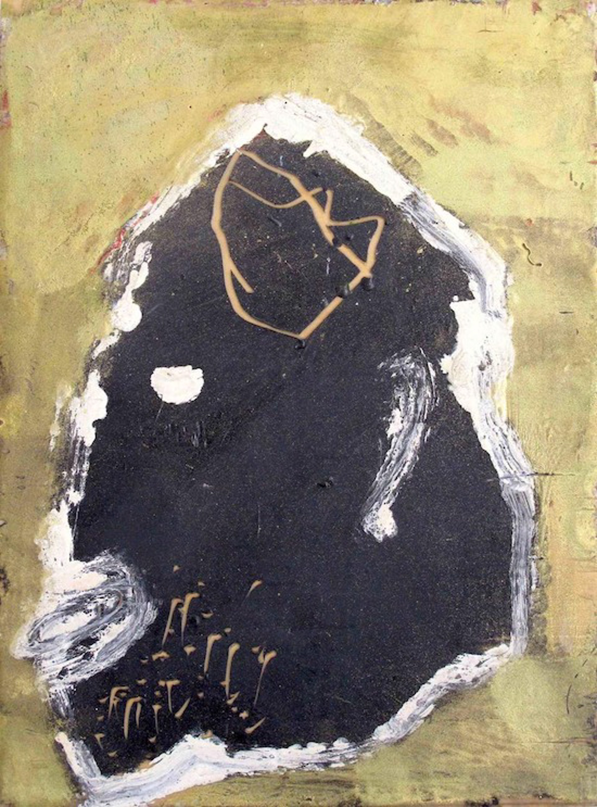 Portrait in Black on Gold by James Havard