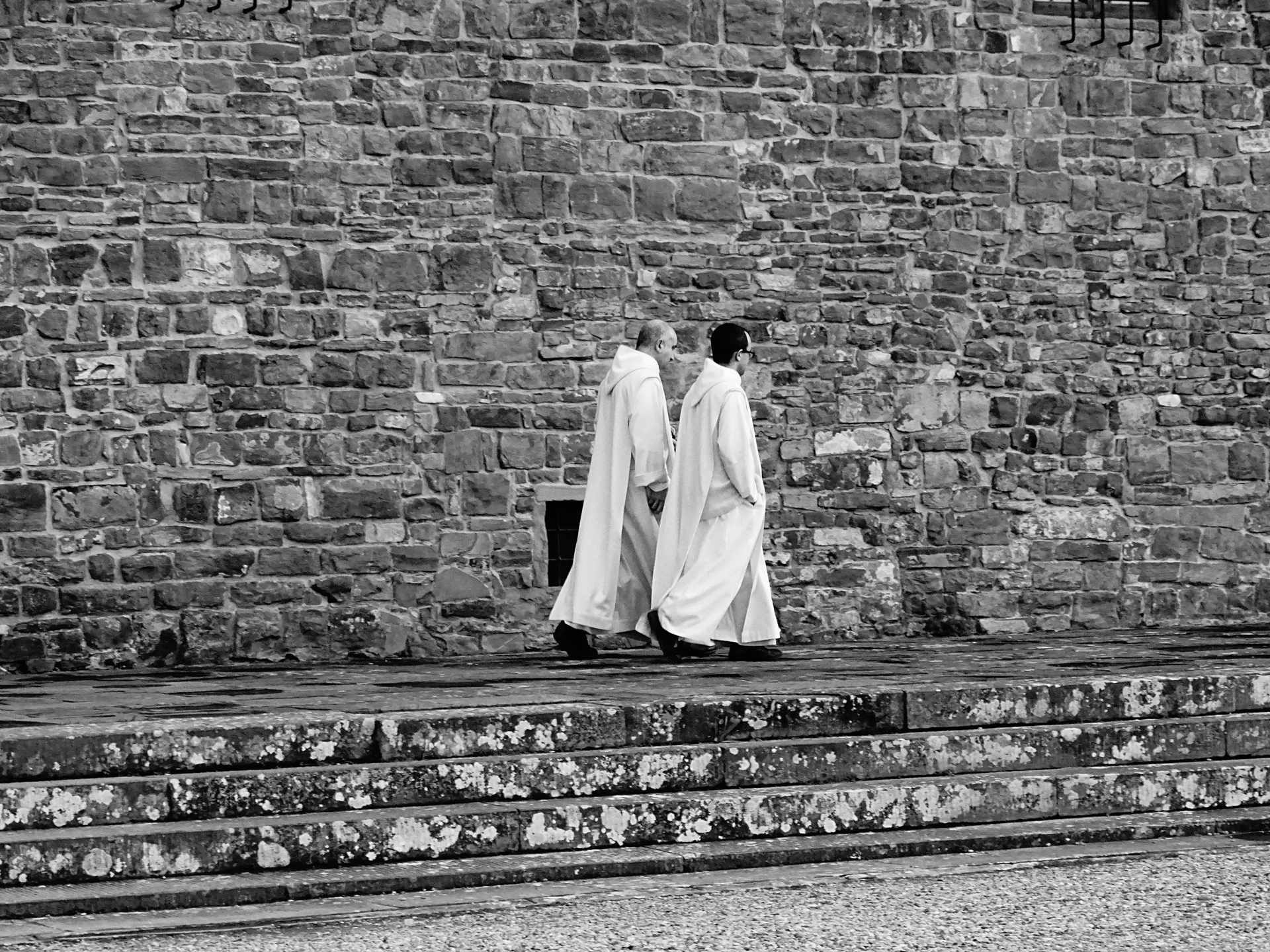 Monks at San Miniato, Florence  by Stacy Widelitz