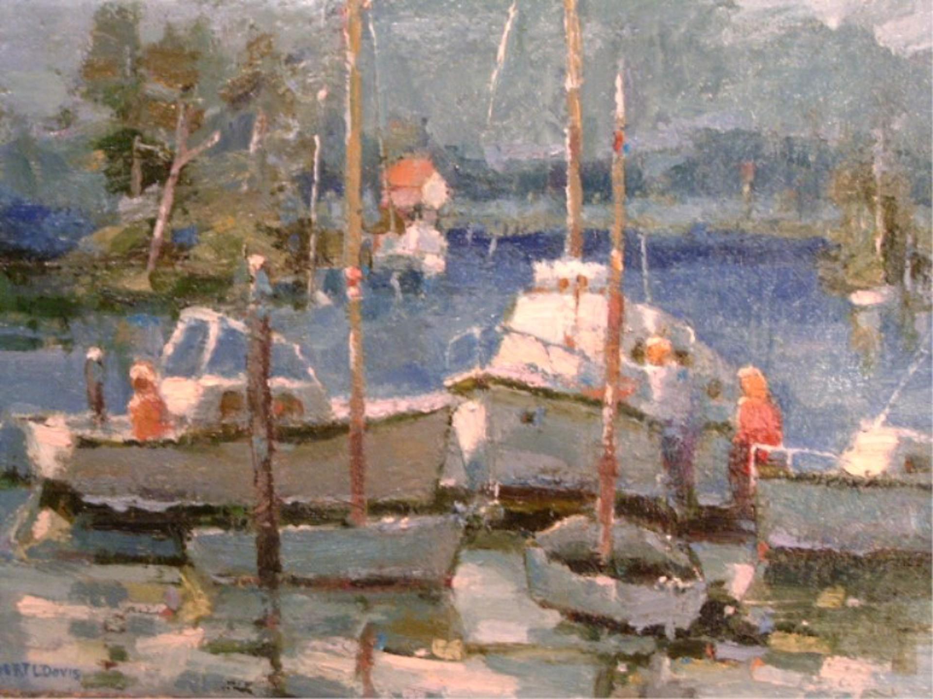 Boating at Lake Cachuma by Robert L. Davis