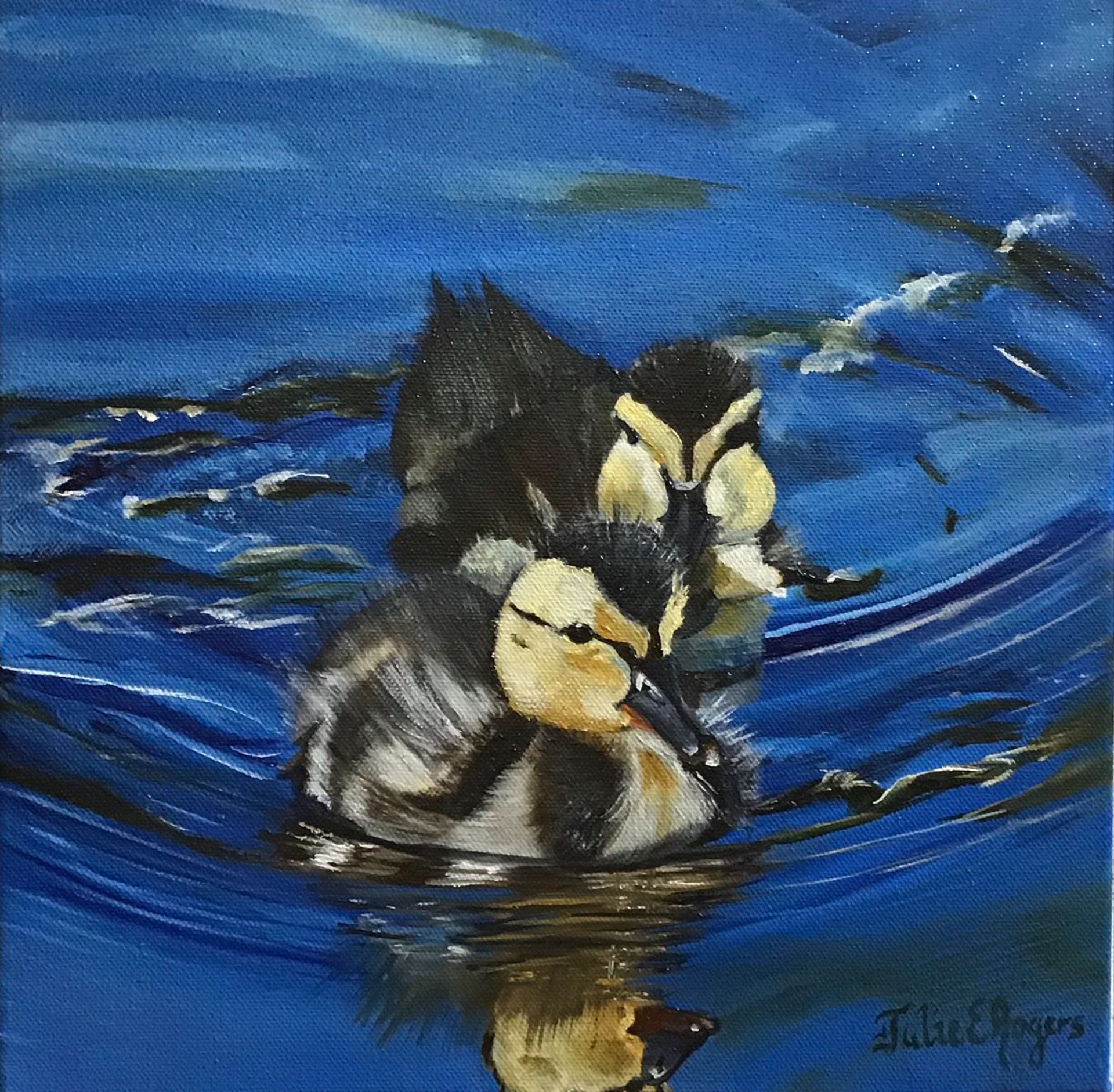 Duckling Duo by Julie Rogers