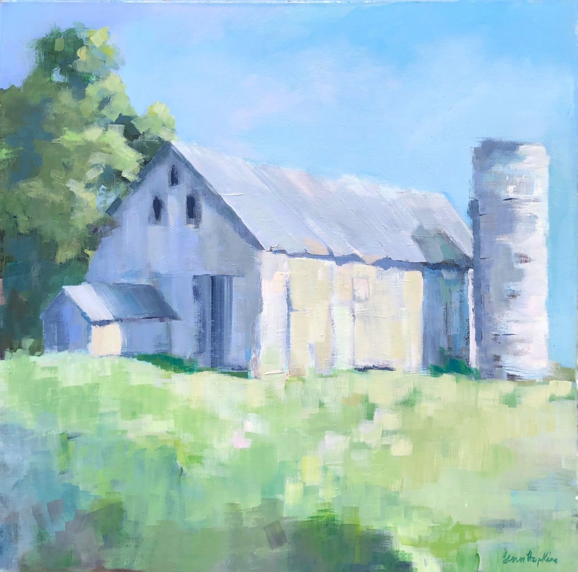 North Georgia White Barn by Lenn Hopkins