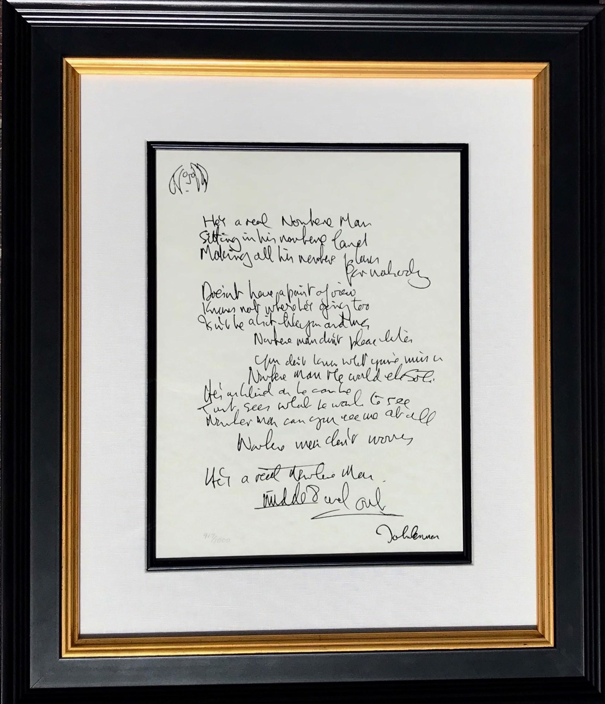"""""""Nowhere Man"""" Lyrics by John Lennon"""