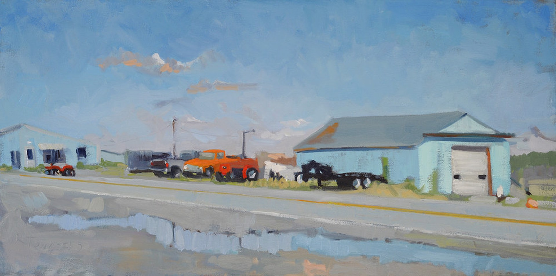 Orange Truck by Krista Townsend