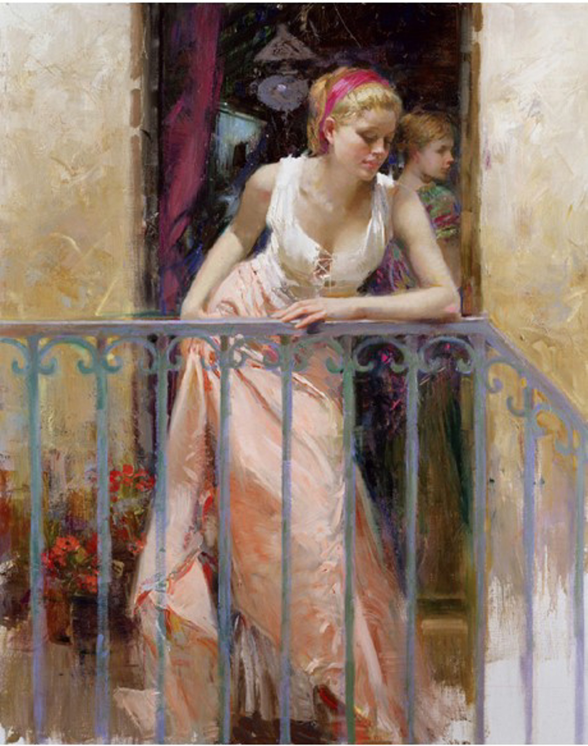 At the Balcony by Pino