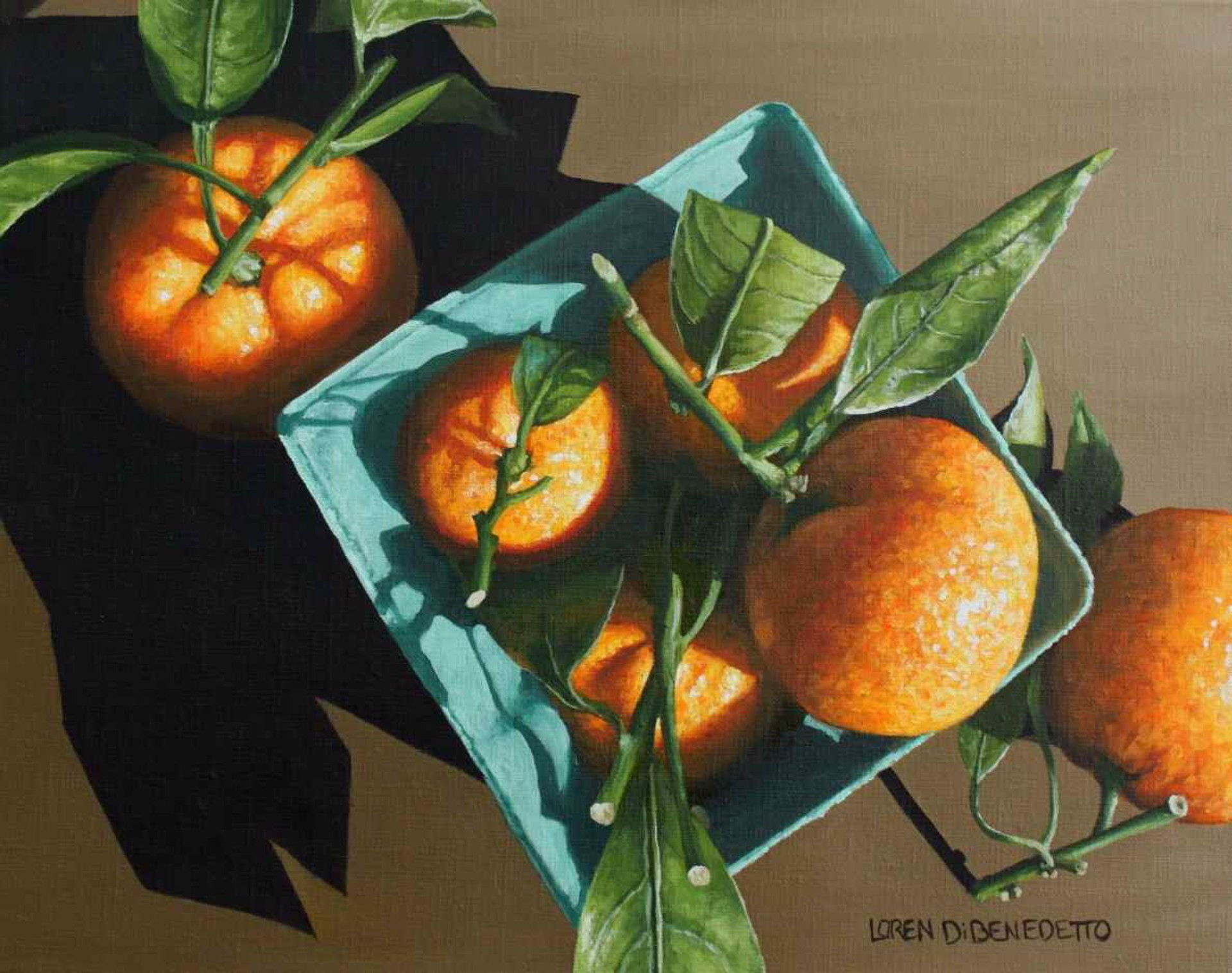 Tangerines From Above by Loren DiBenedetto