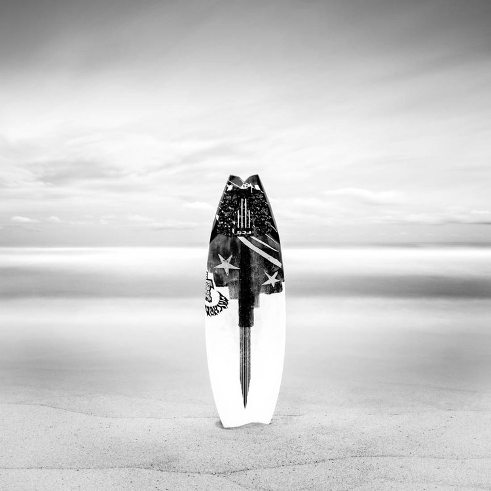 Surfboard at White Sands by Keith Ramsdell