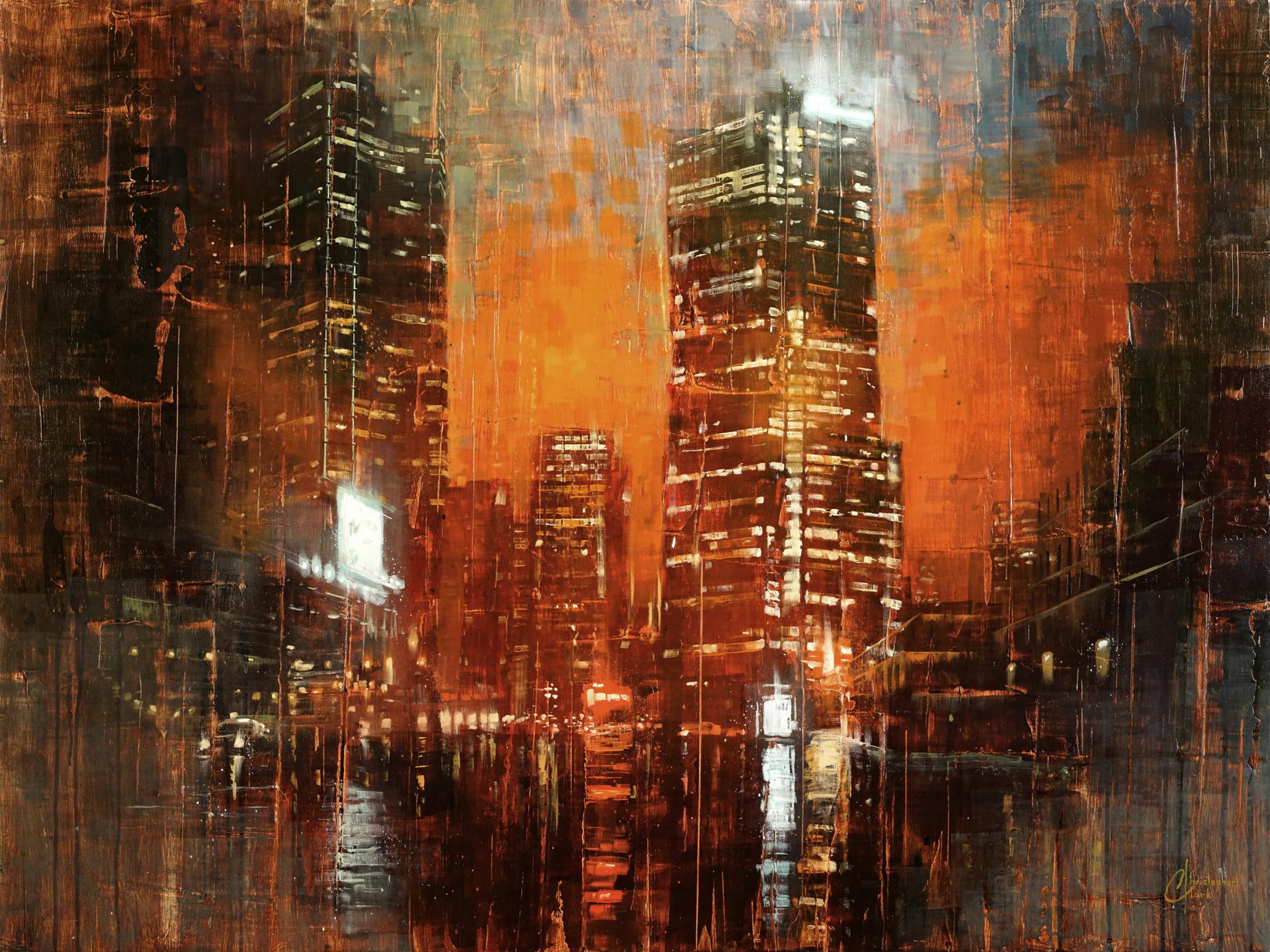 Denver - City Lights III by Christopher Clark