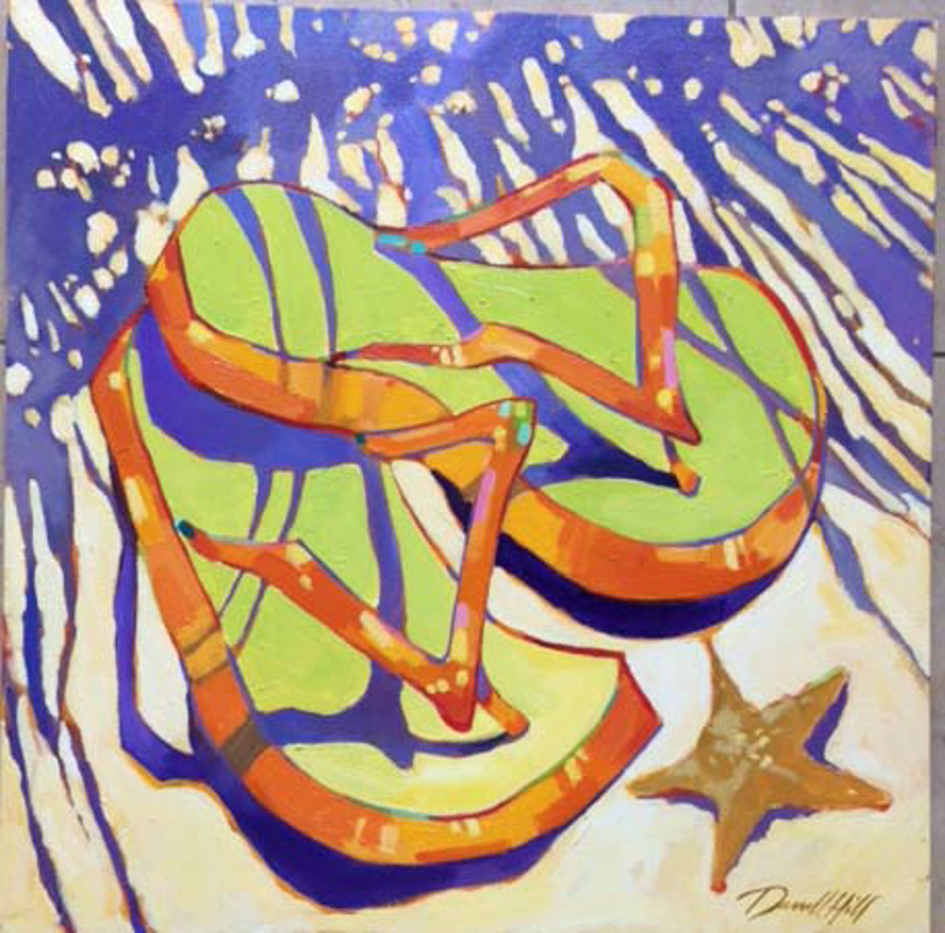 Star Slippers by Darrell Hill