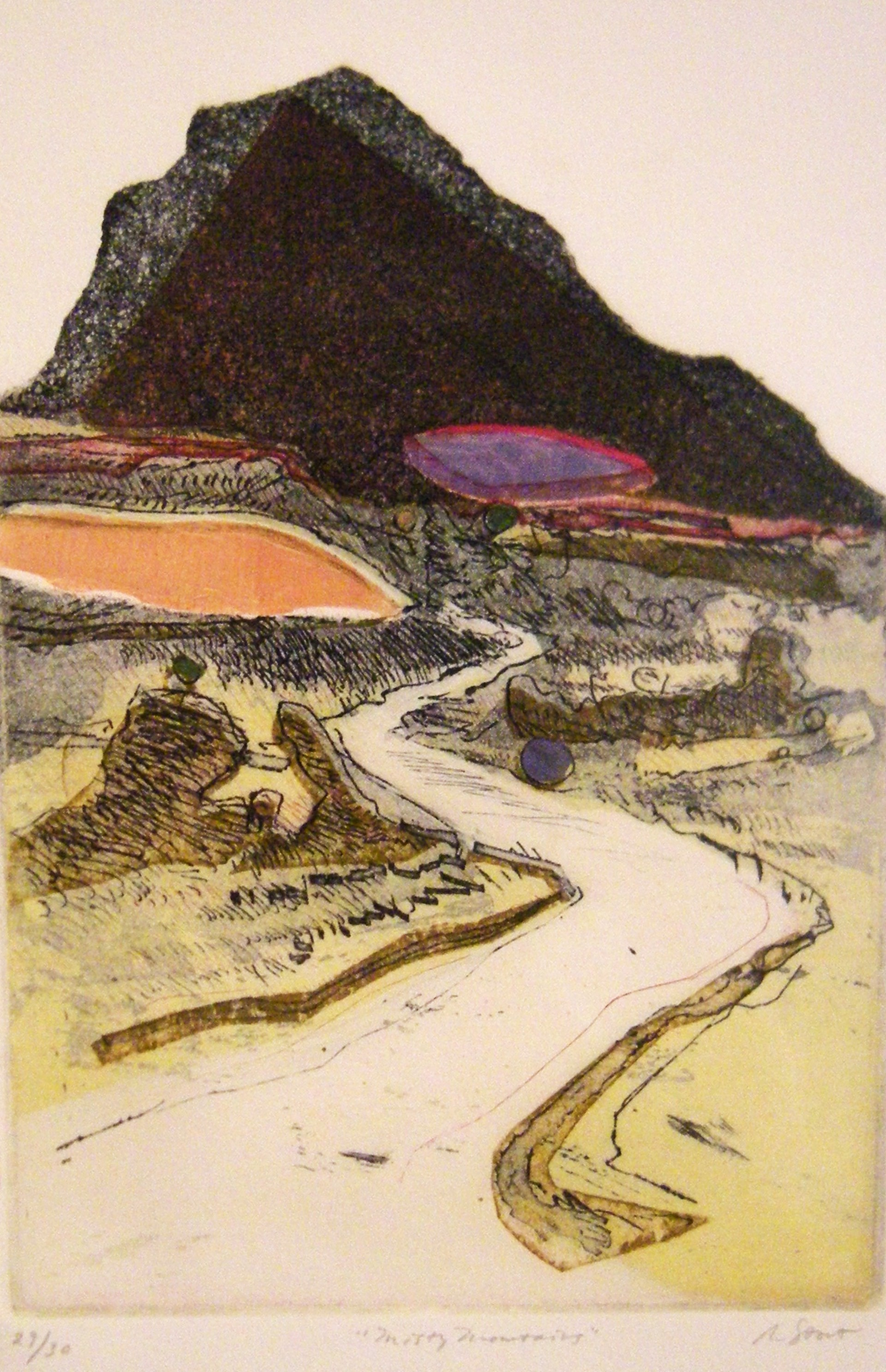 Misty Mountains (29/30) by Richard Stout - Works on Paper