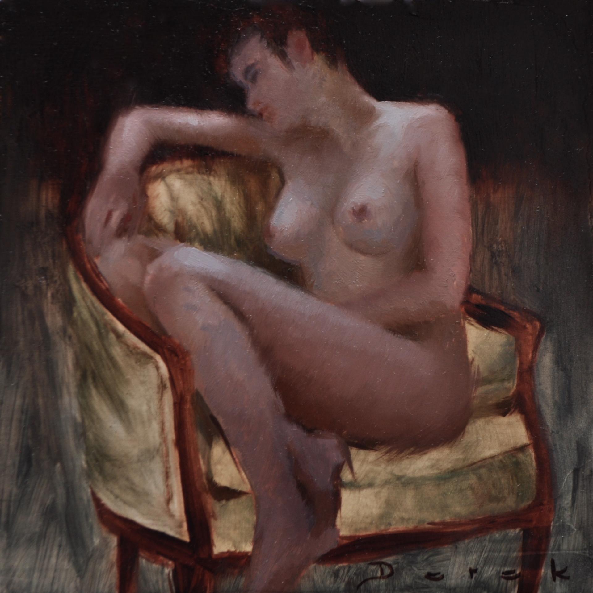 Seated Figure 1 by Derek Harrison