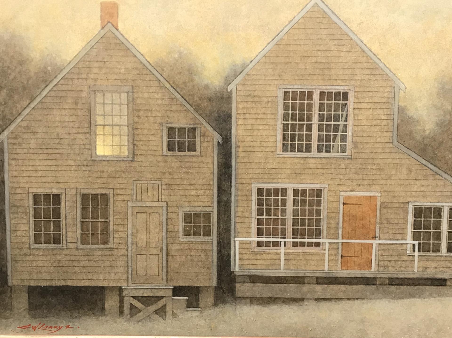 Light in the Sail Loft Window-Nantucket by Elizabeth Leary