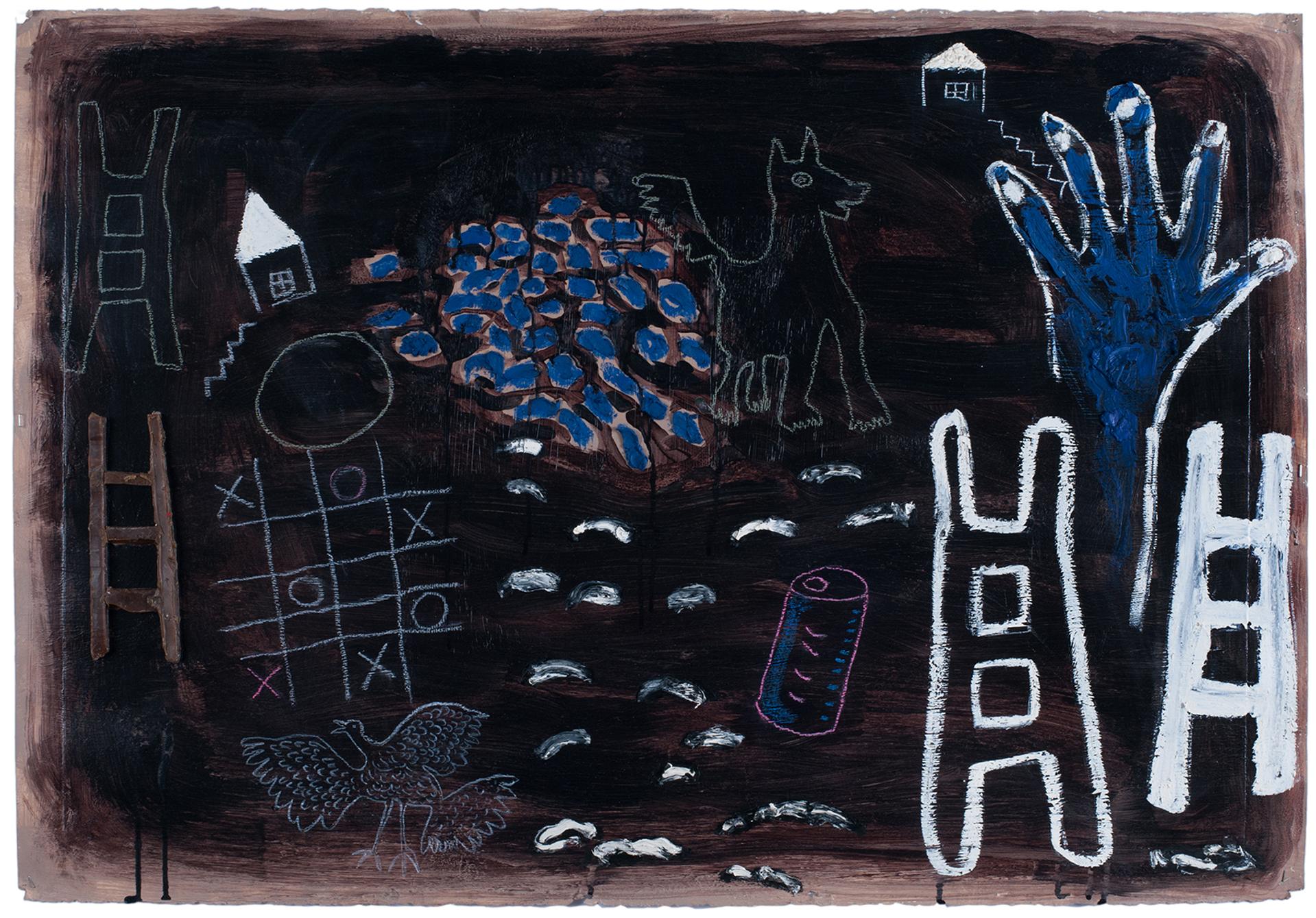 Blue Hand by Floyd Newsum