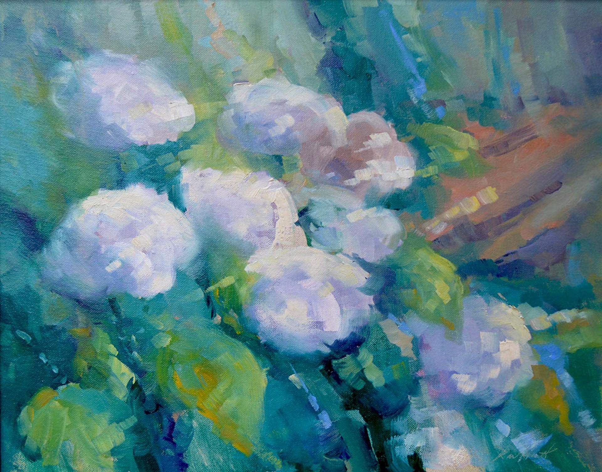 The White Hydrangeas by Karen Hewitt Hagan