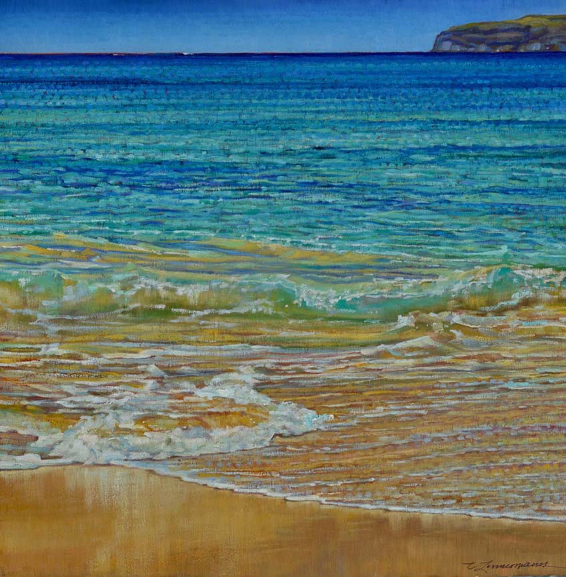 Makena Beach Blues by Caroline Zimmermann