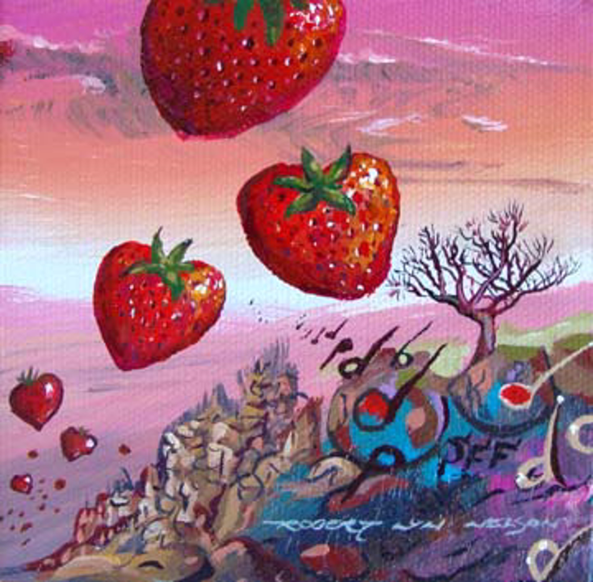 Strawberry Fields Forever II by Robert Lyn Nelson