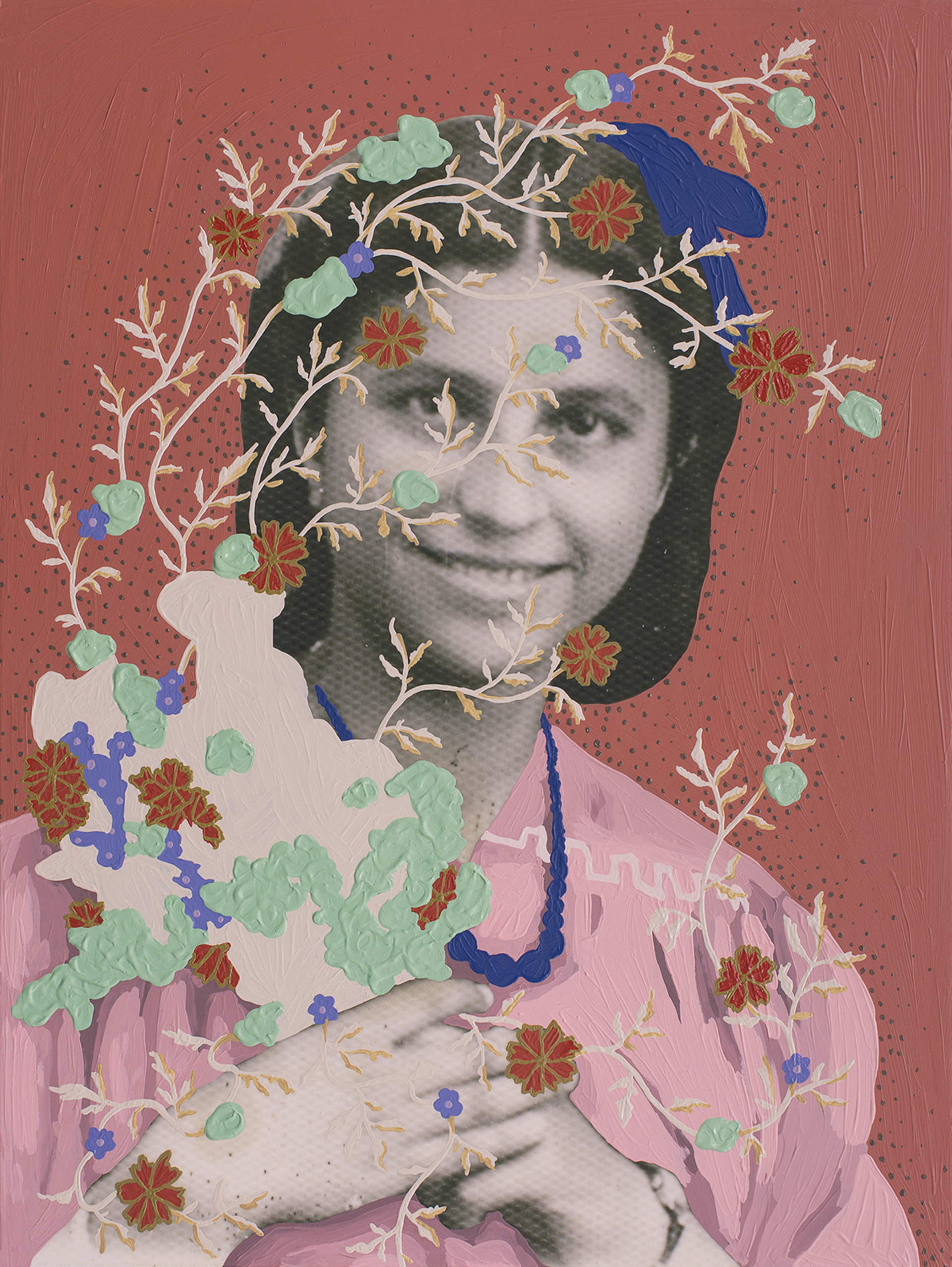 Untitled (Flower Girl) by Daisy Patton