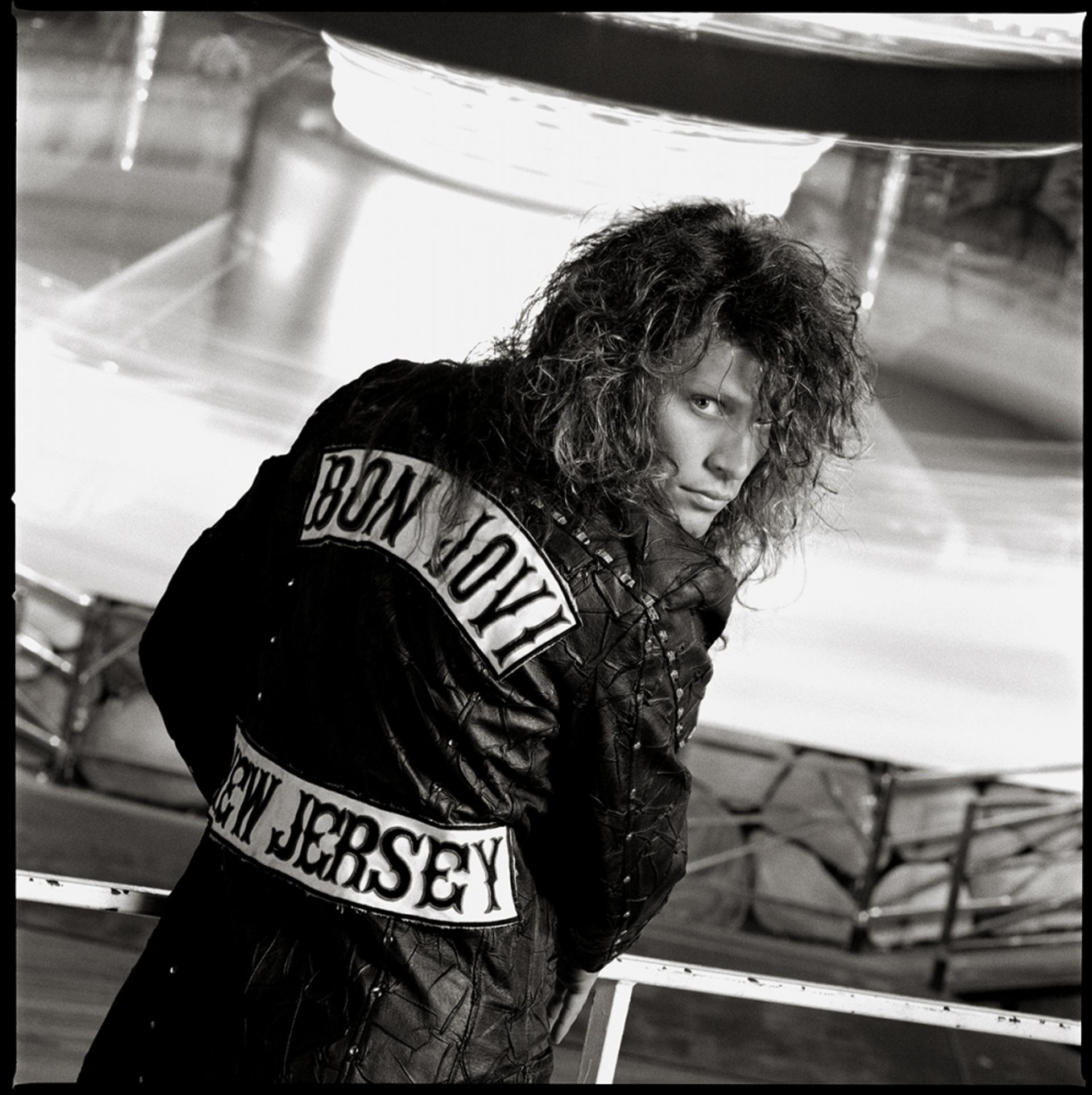 88130 Jon Bon Jovi Jacket BW by Timothy White