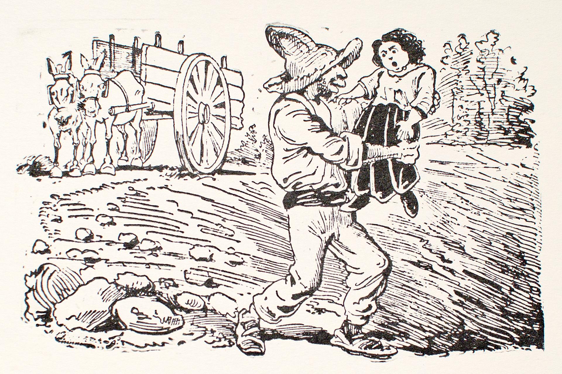 Decimas: Los roba-chicos en acción by José Guadalupe Posada (1852 - 1913)