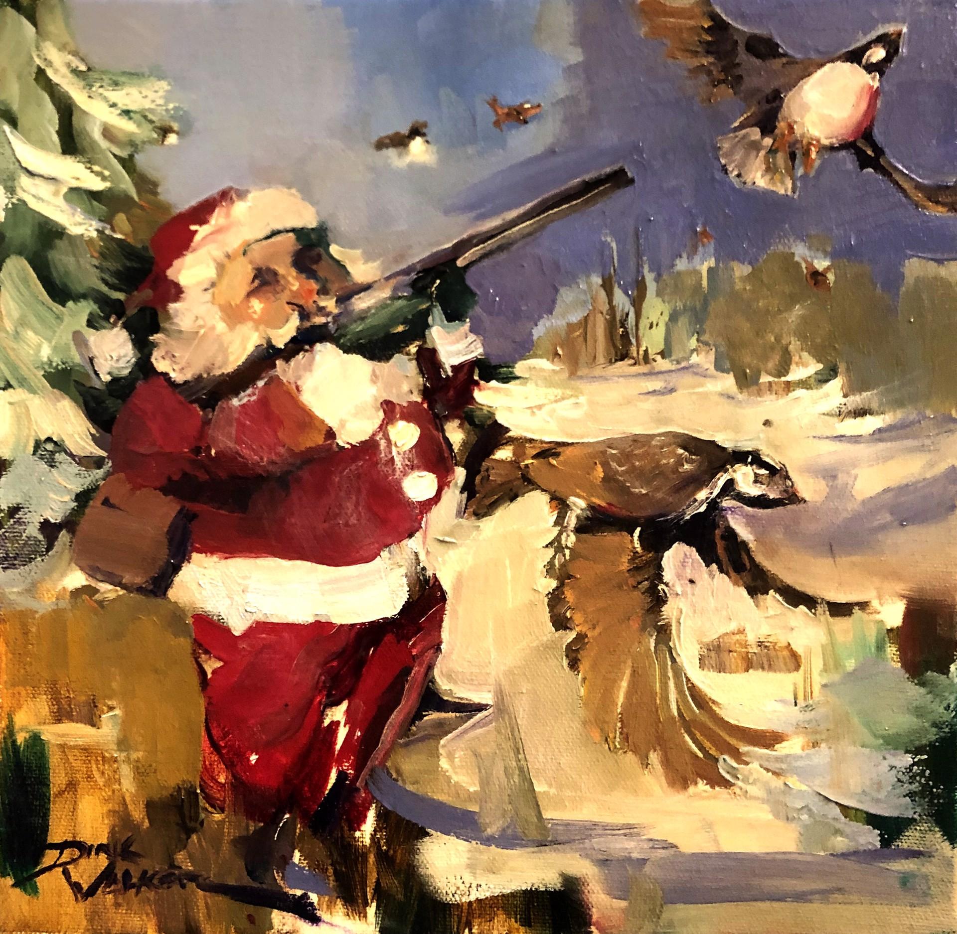 Santa on the Hunt by Dirk Walker