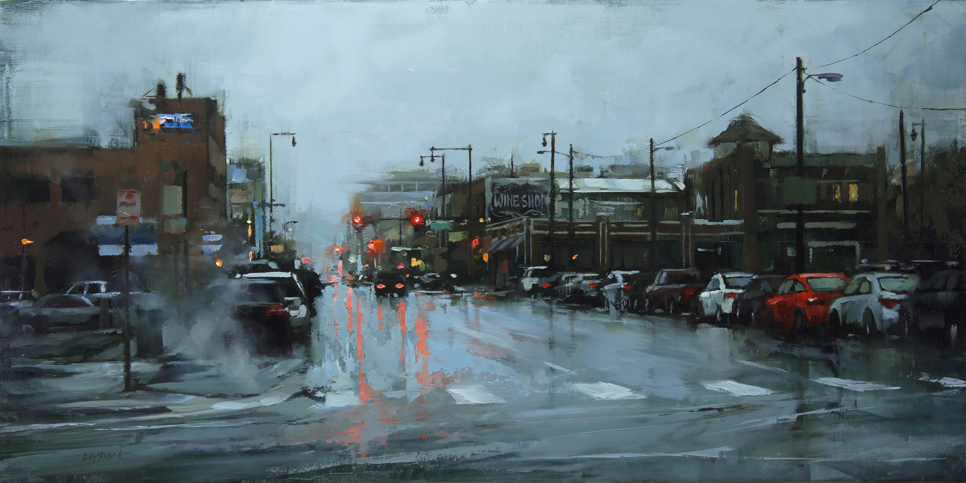 Winter in Downtown by Lindsey Kustusch