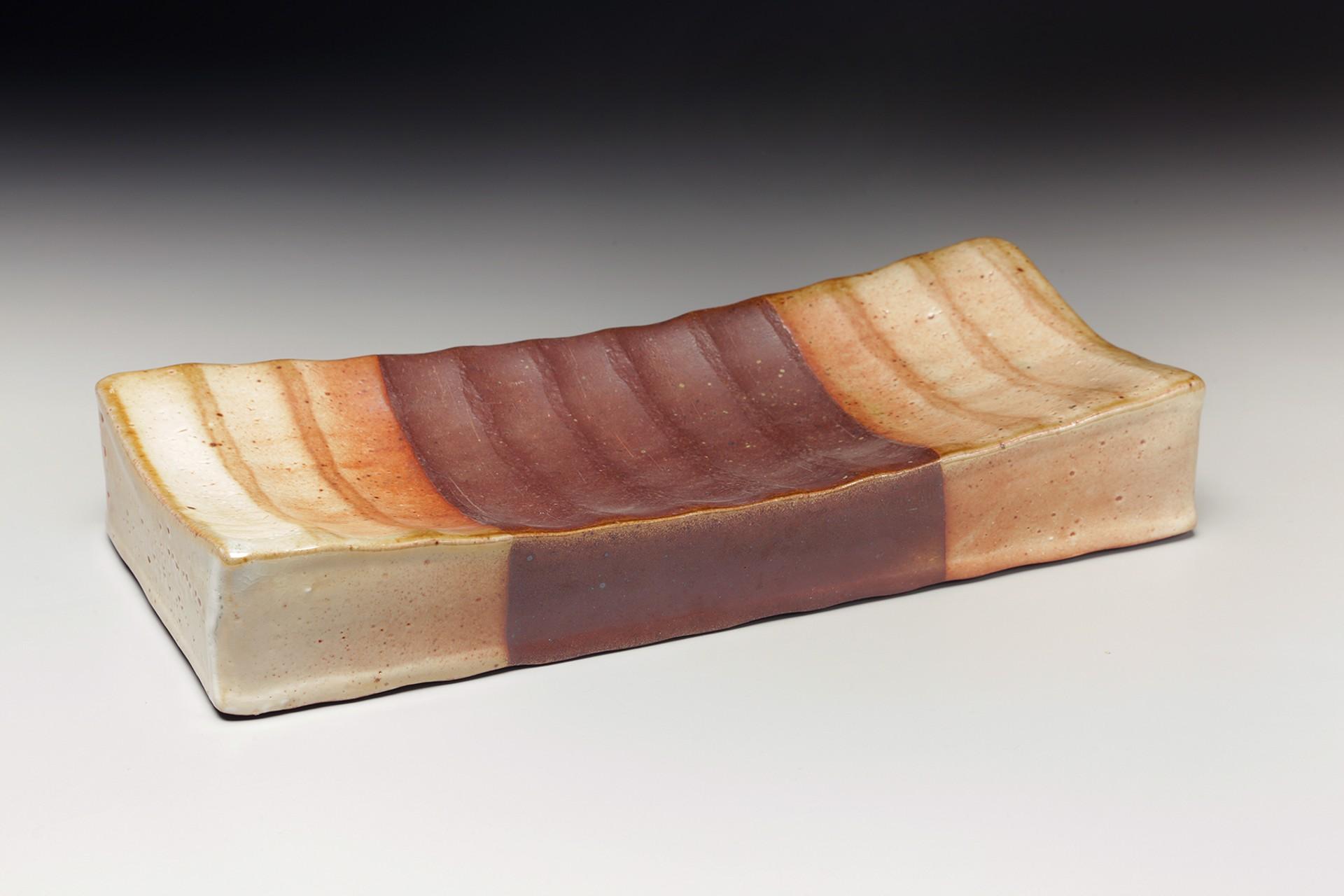 Dry Shino Hollow Form Tray by Nancy Green