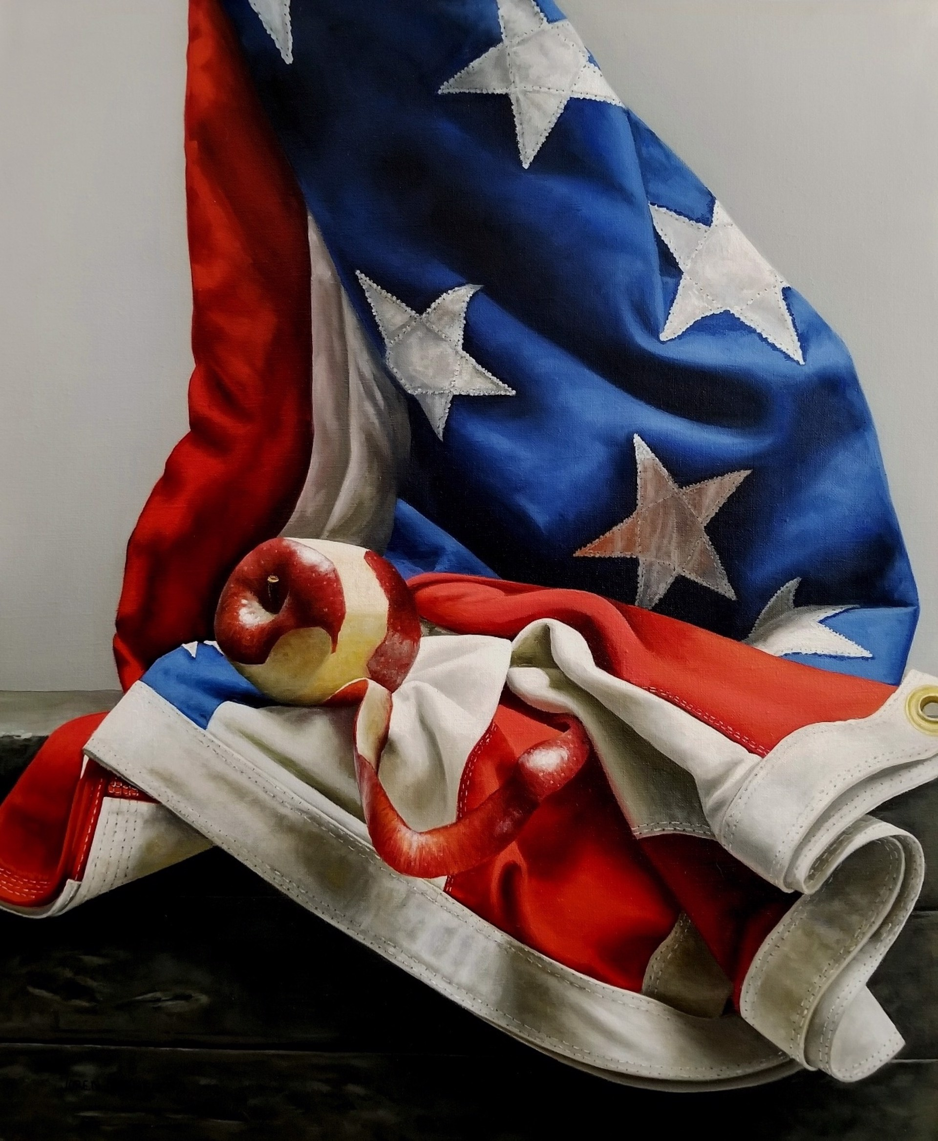 Apple and Flag by Loren DiBenedetto