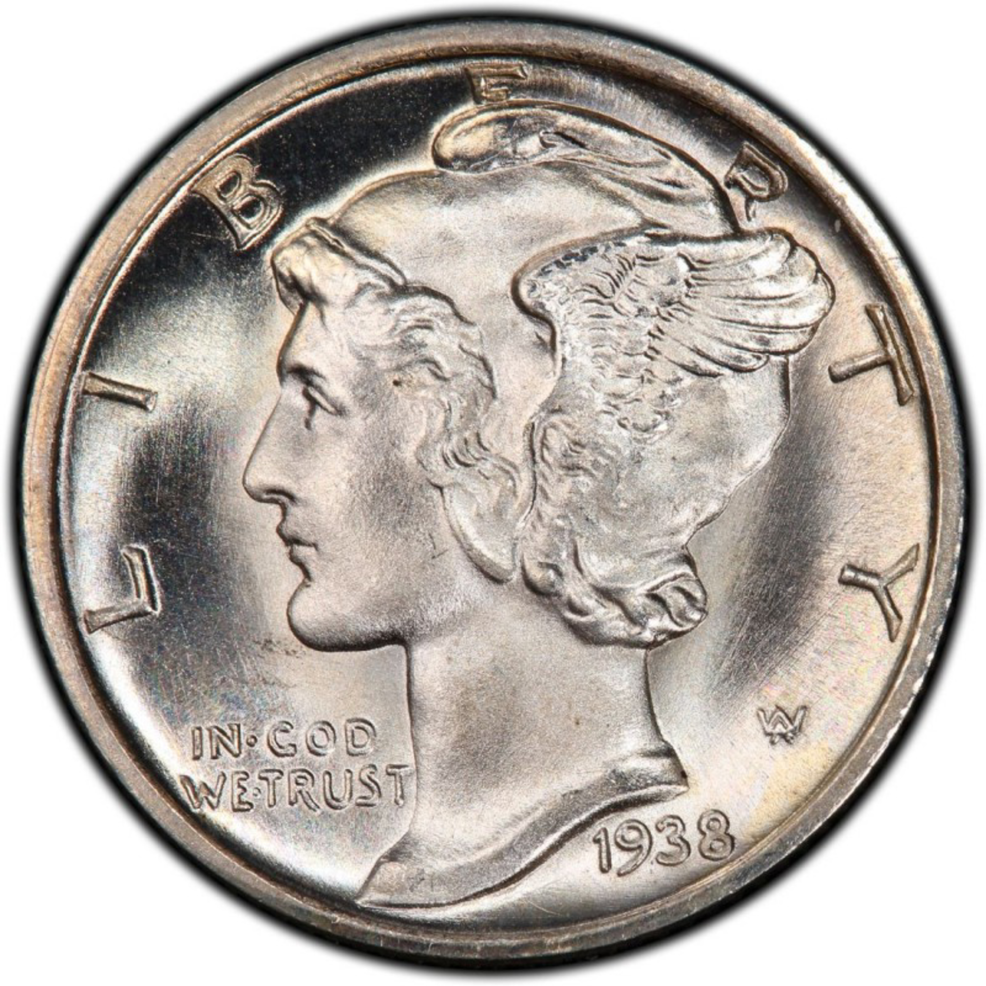 Liberty In God We Trust - Mercury Dime by Peter Max