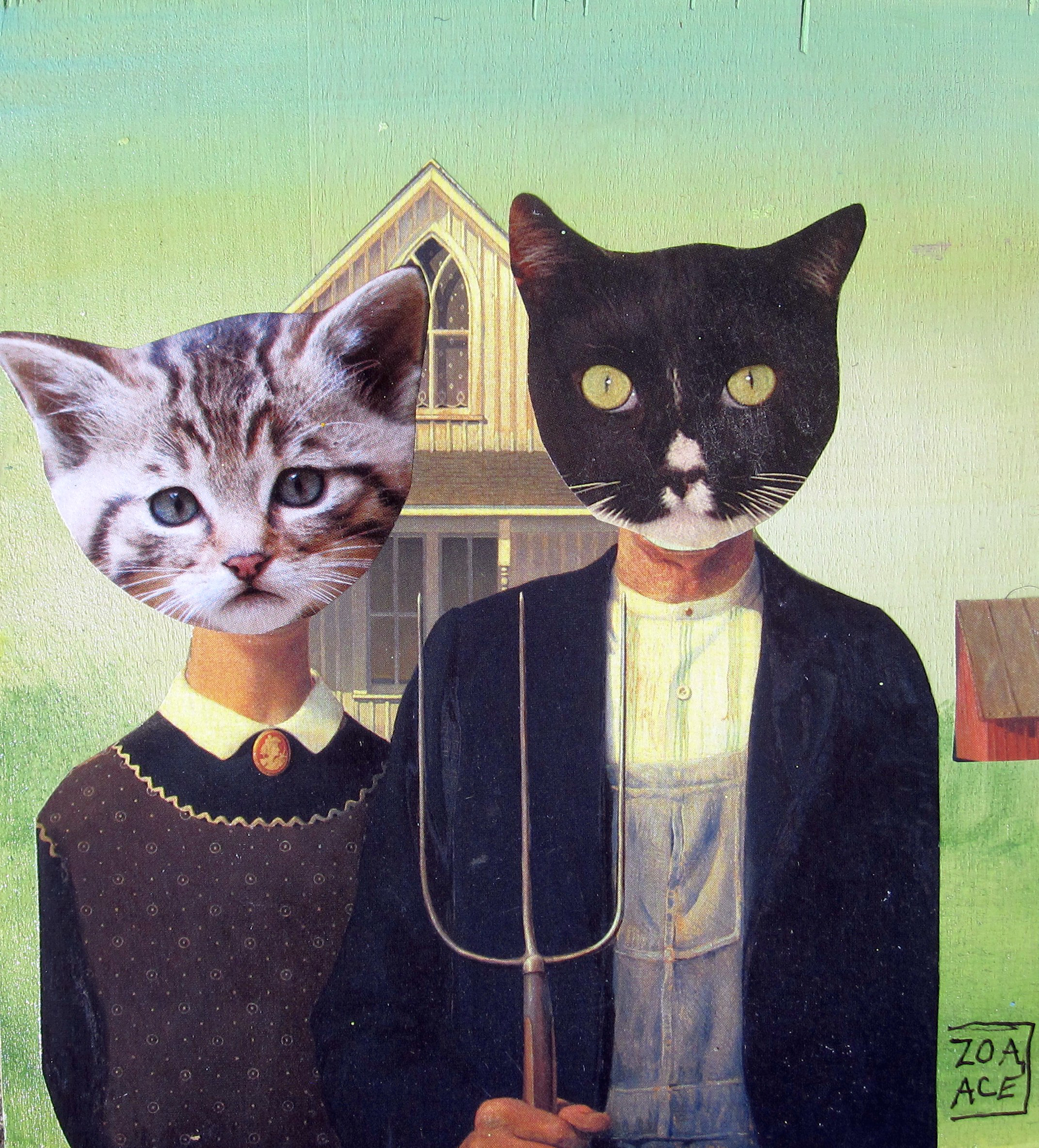 Barn Cats, Gothic by Zoa Ace