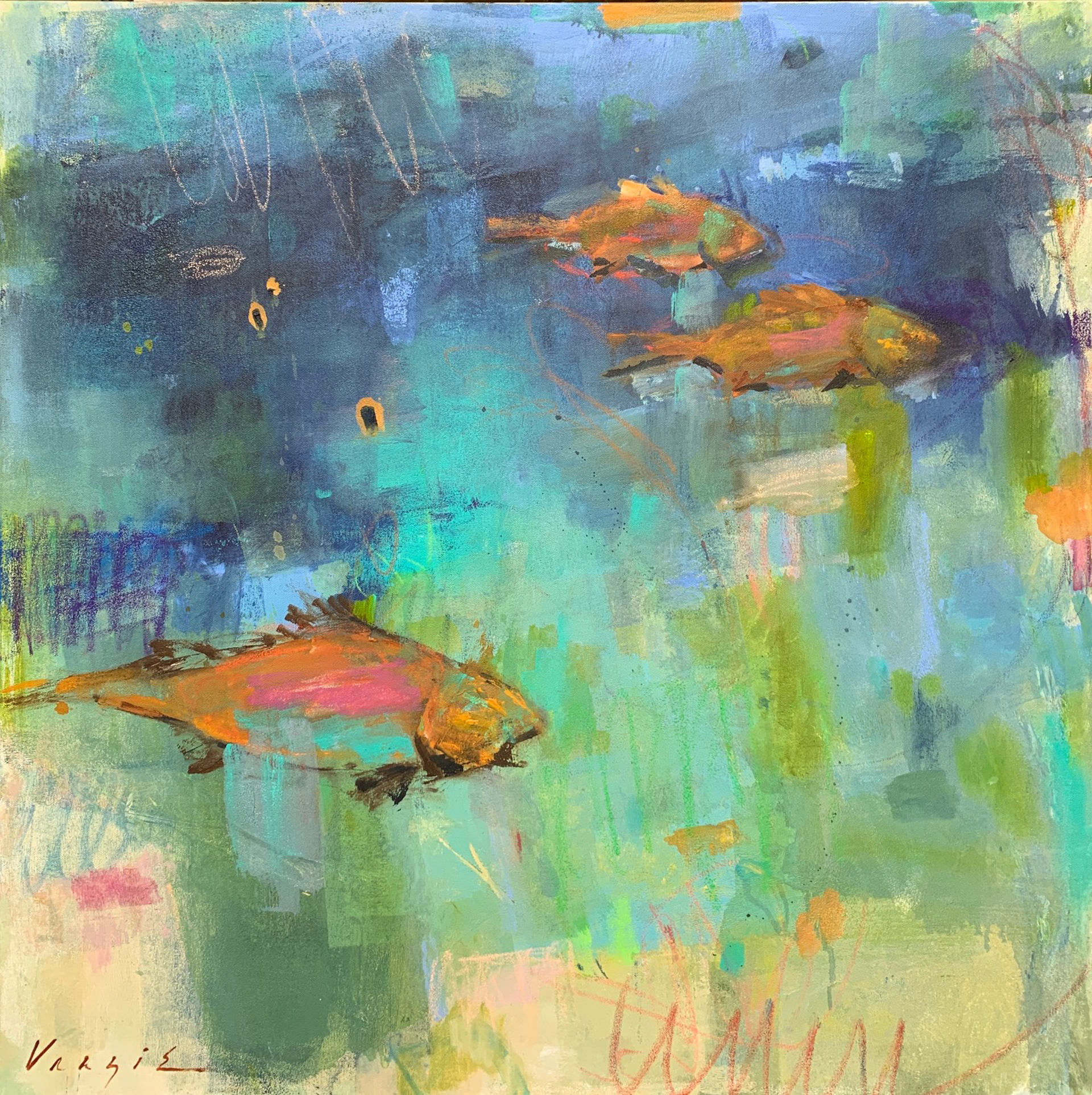 Deep Sea Swimming by Mary Miller Veazie
