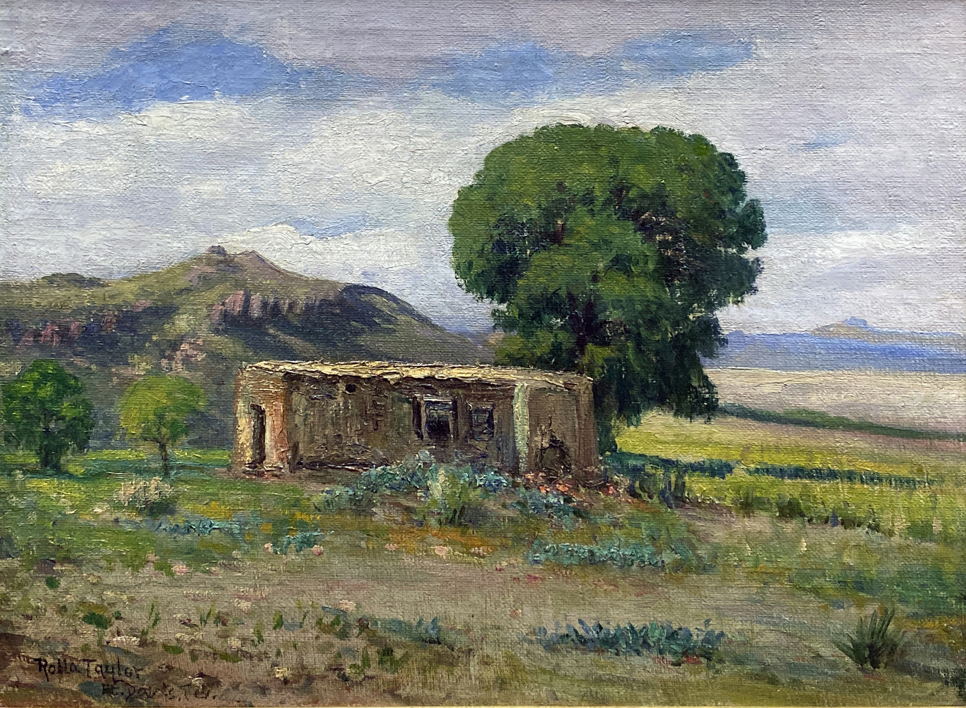 Old Ranch House, Fort Davis, Texas by Rolla Taylor