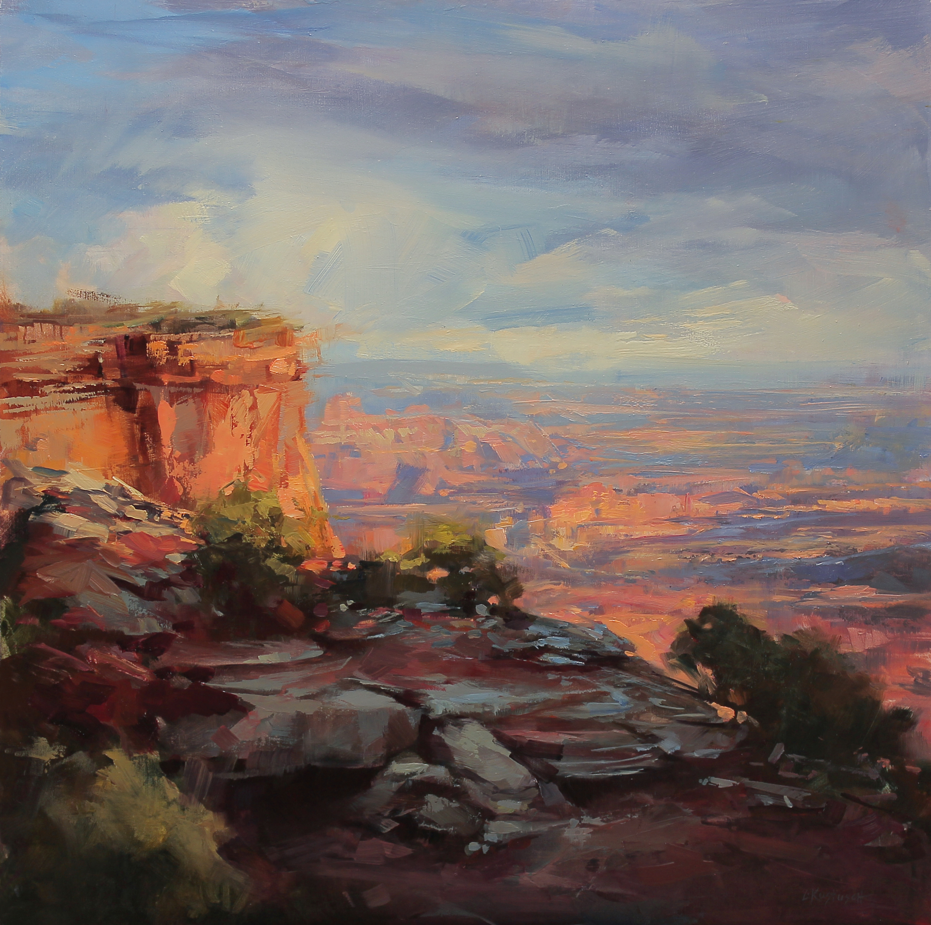 Last Light Over the Canyons by Lindsey Kustusch