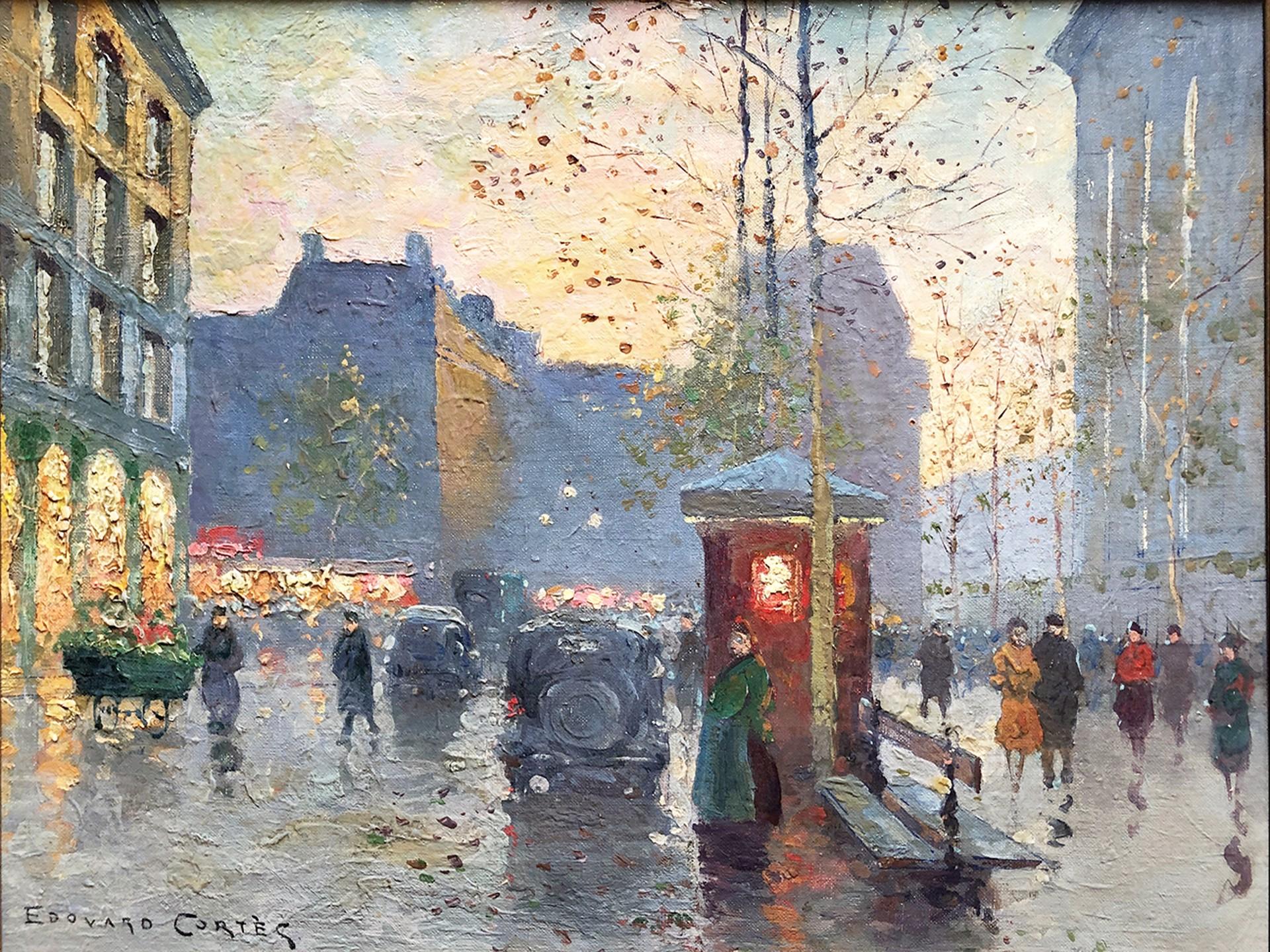 Place de la Madeleine, Autumn Rain by Edouard Leon Cortes