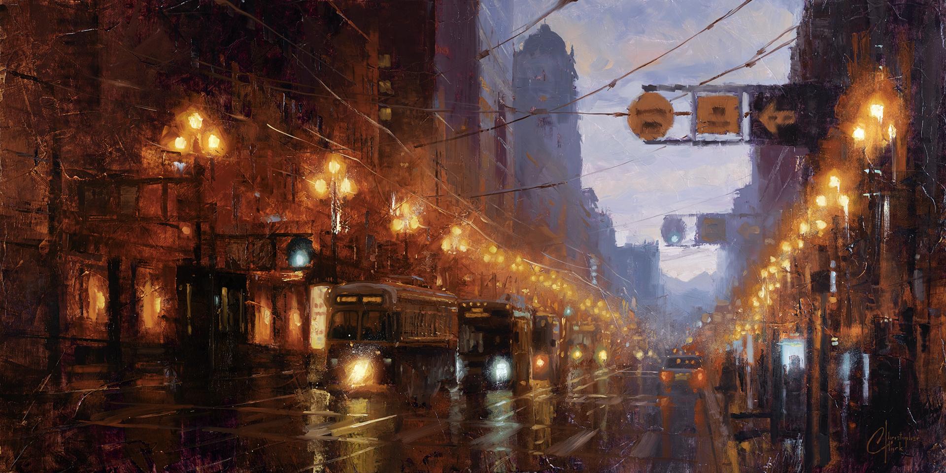 San Francisco at Dusk by Christopher Clark