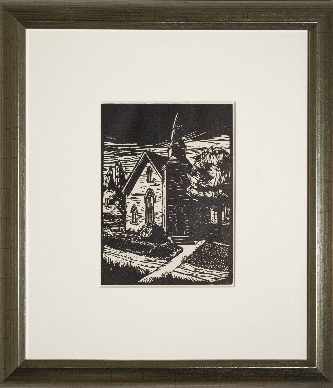 Country Church by Elsa E. Ulbricht