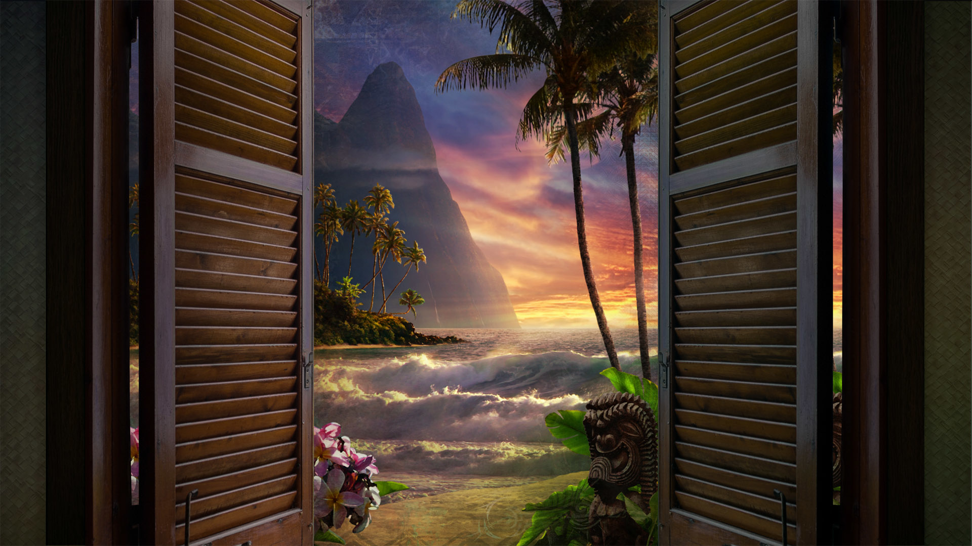 WINDOW TO PARADISE (Art Stick) - SEE SAMPLE VIDEO, CLICK ON BOTTOM RIGHT BOX ICON TO WATCH FULL SCREEN by Steve Matson
