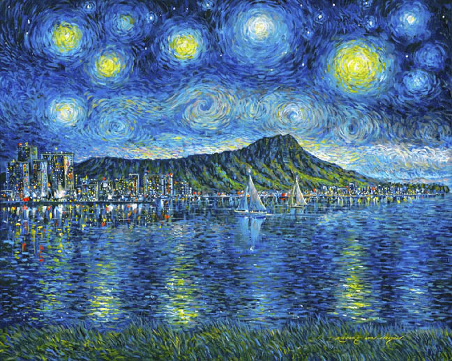 Starry Starry Diamond Head by Robert Lyn Nelson