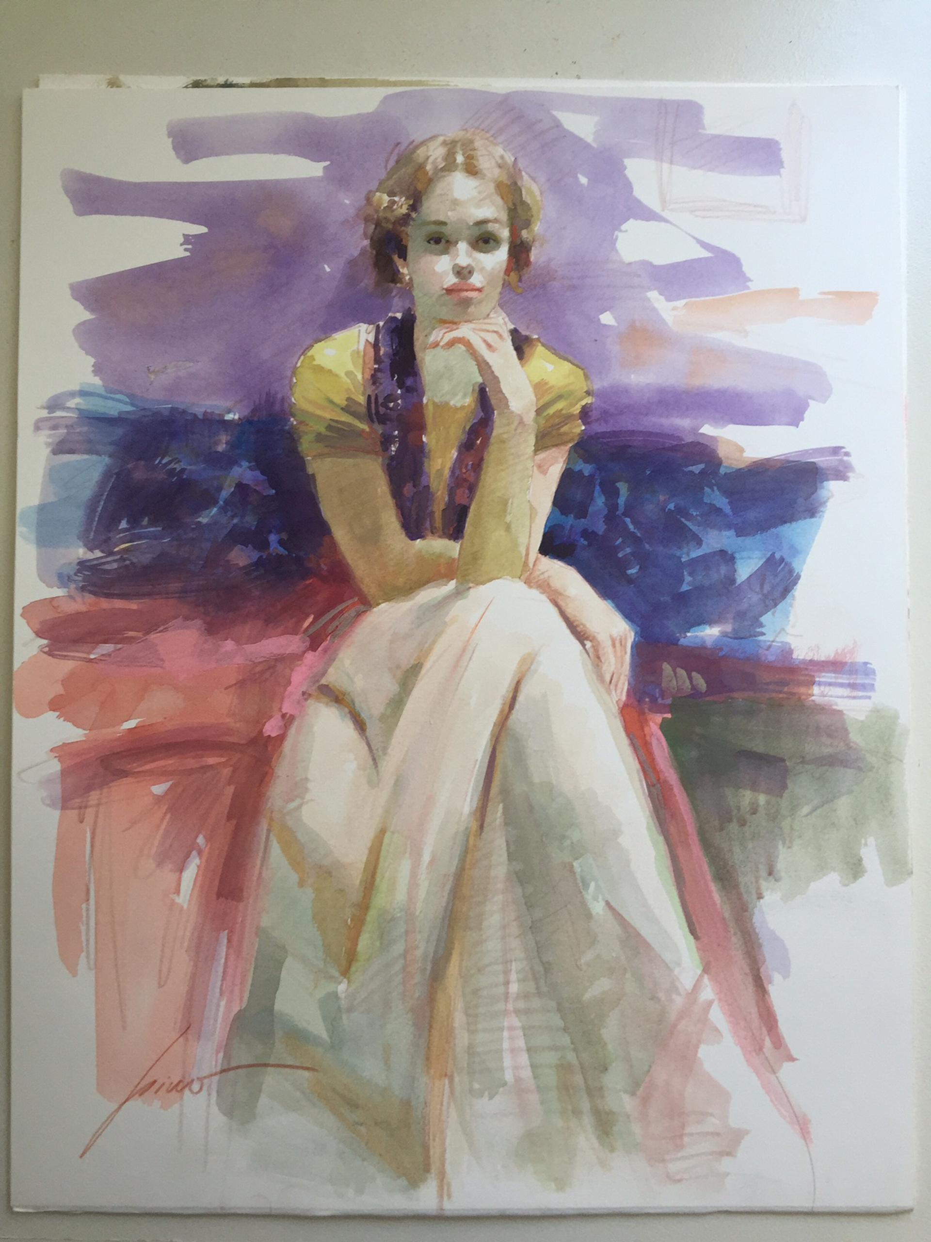 Original Watercolor Release 2 by Pino