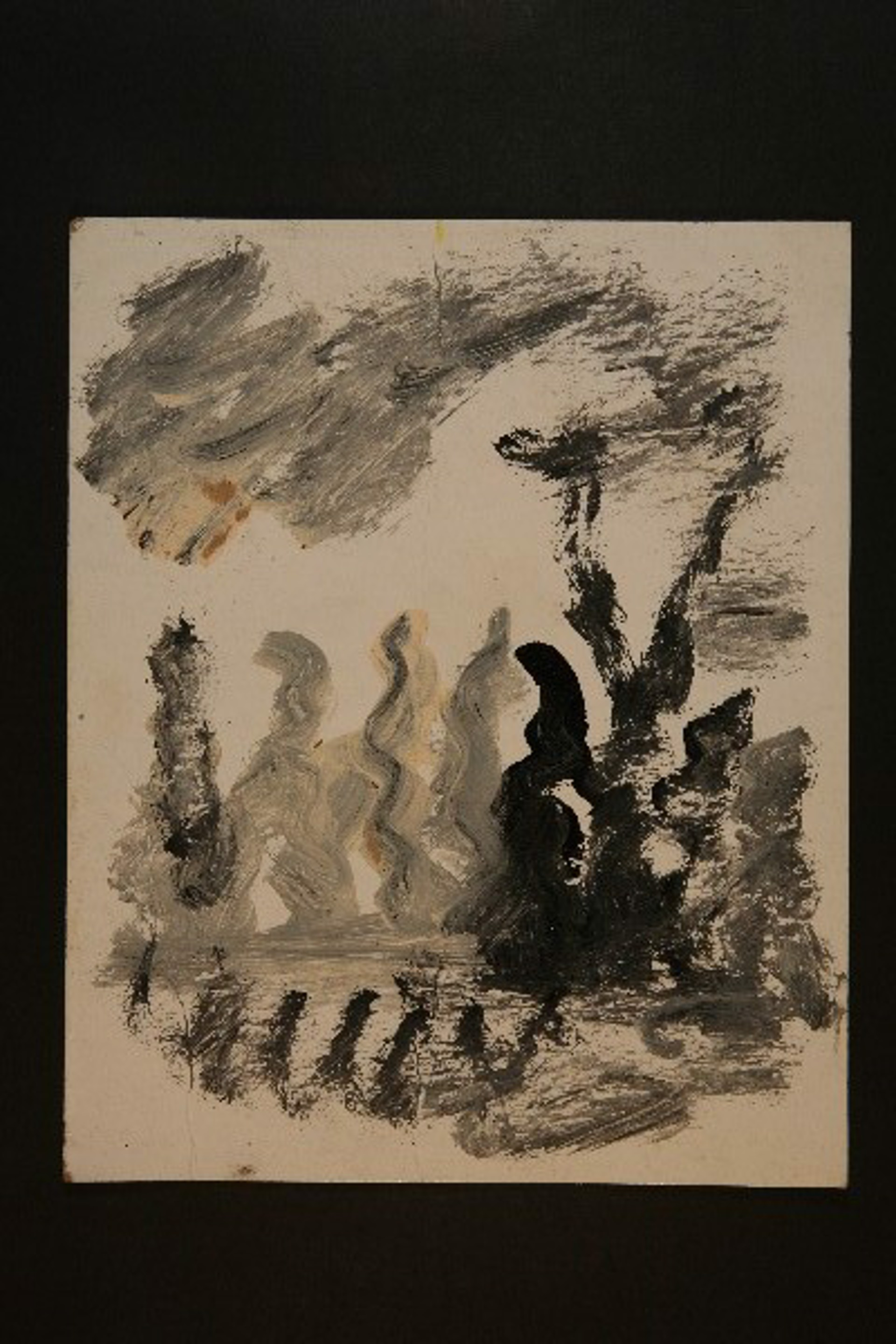 Drawing from the 1990's #225 by Purvis Young (1943 - 2010)