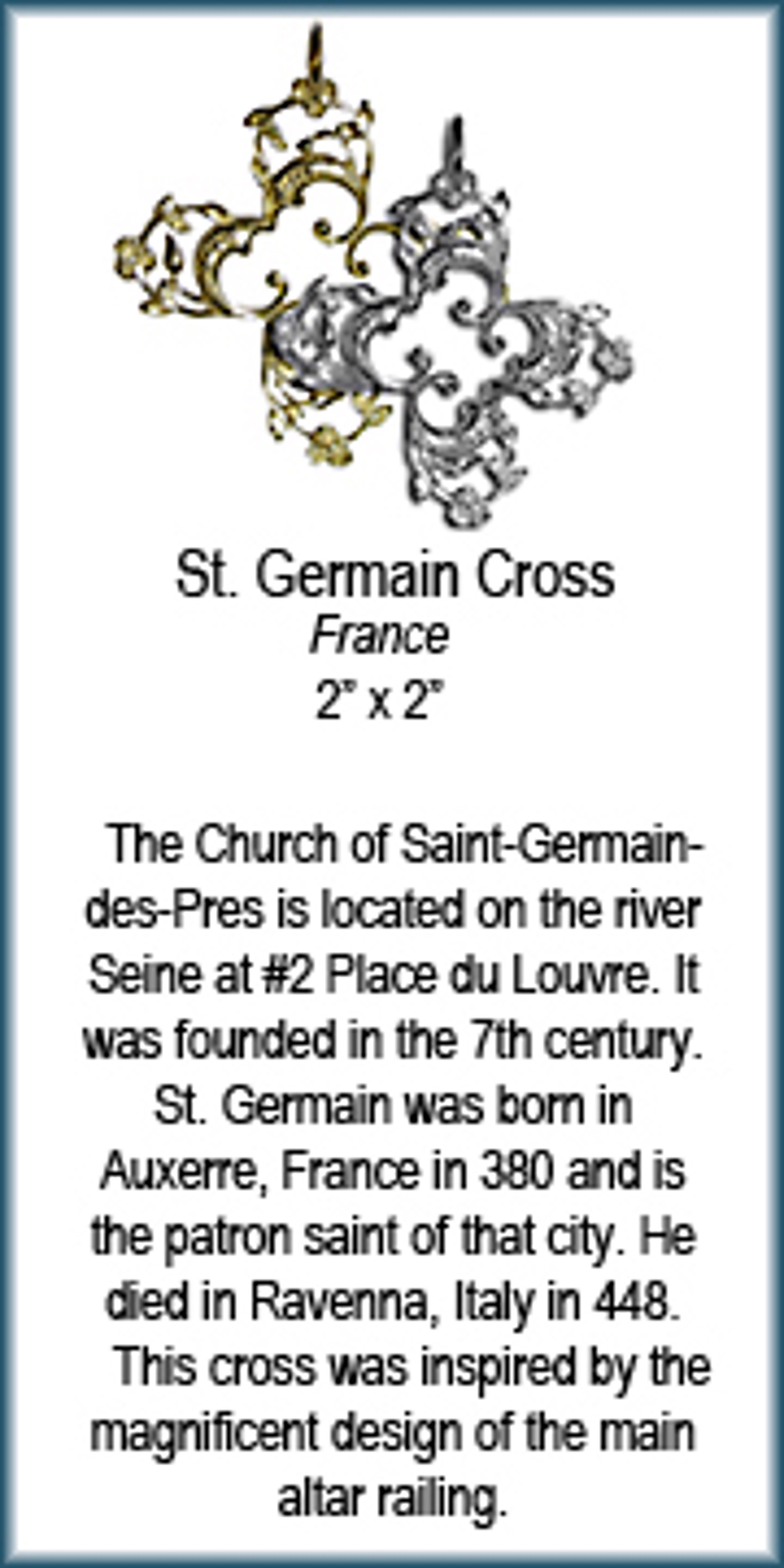 Pendant - Bronze Cross of St Germain 7571 by Deanne McKeown