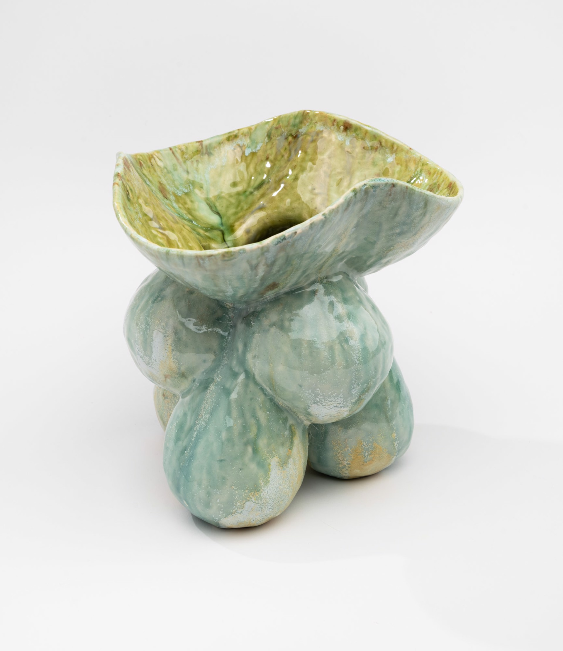 Blue and Green Bubble Vase by Lisa Conway