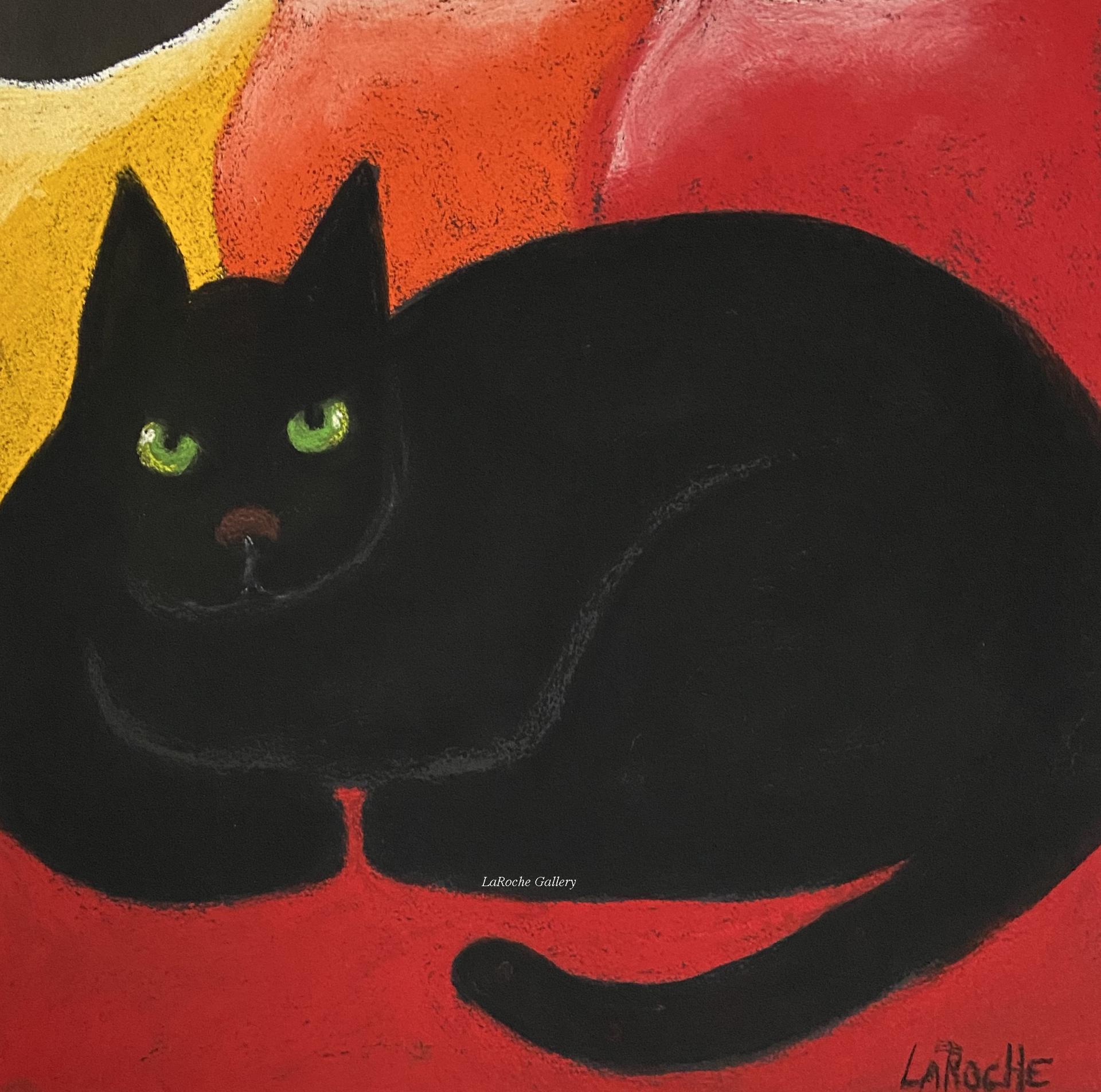 GYPSY ON ORANGE PILLOWS by Carole LaRoche