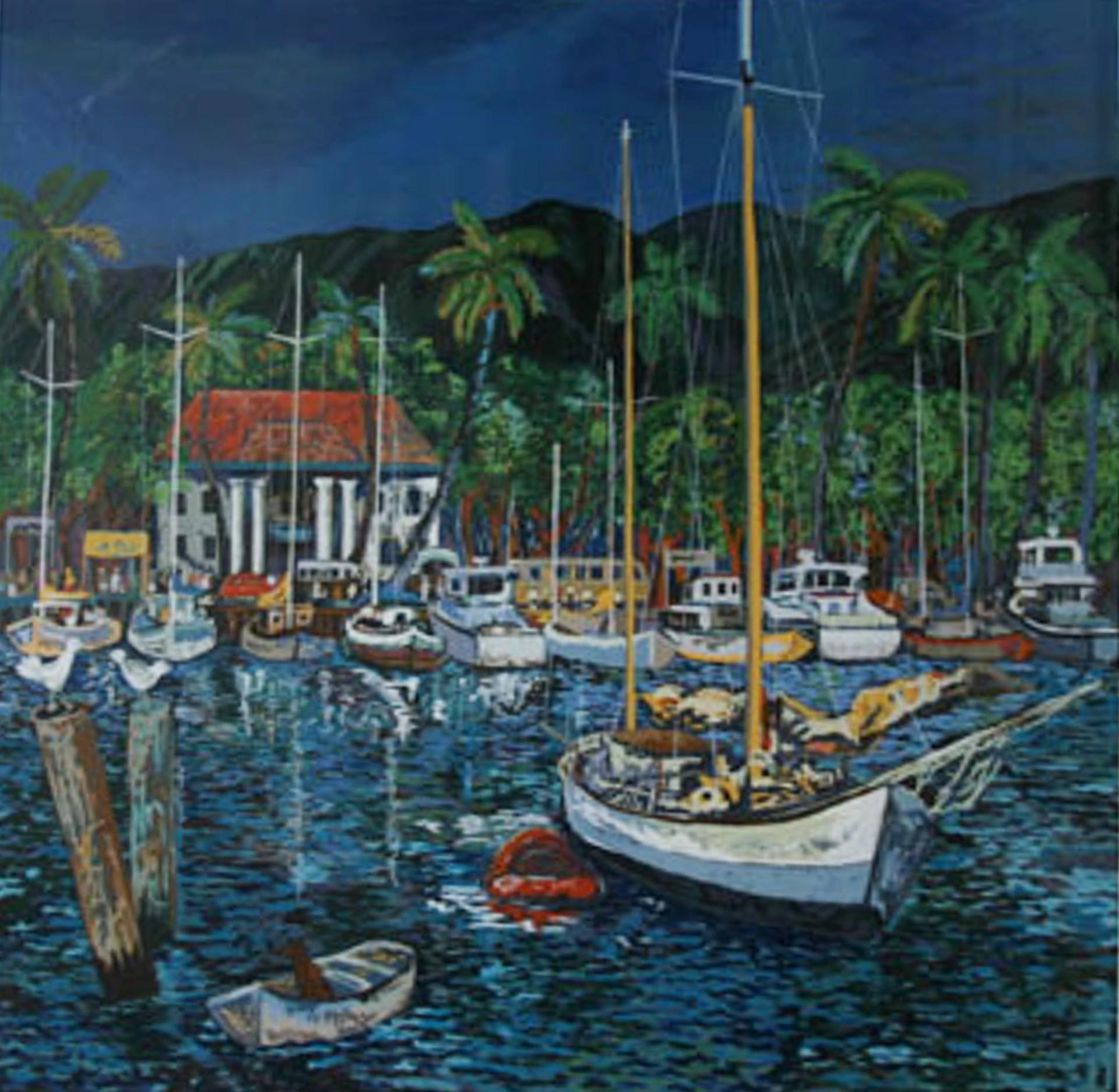 Lahaina Harbor by Guy Buffet