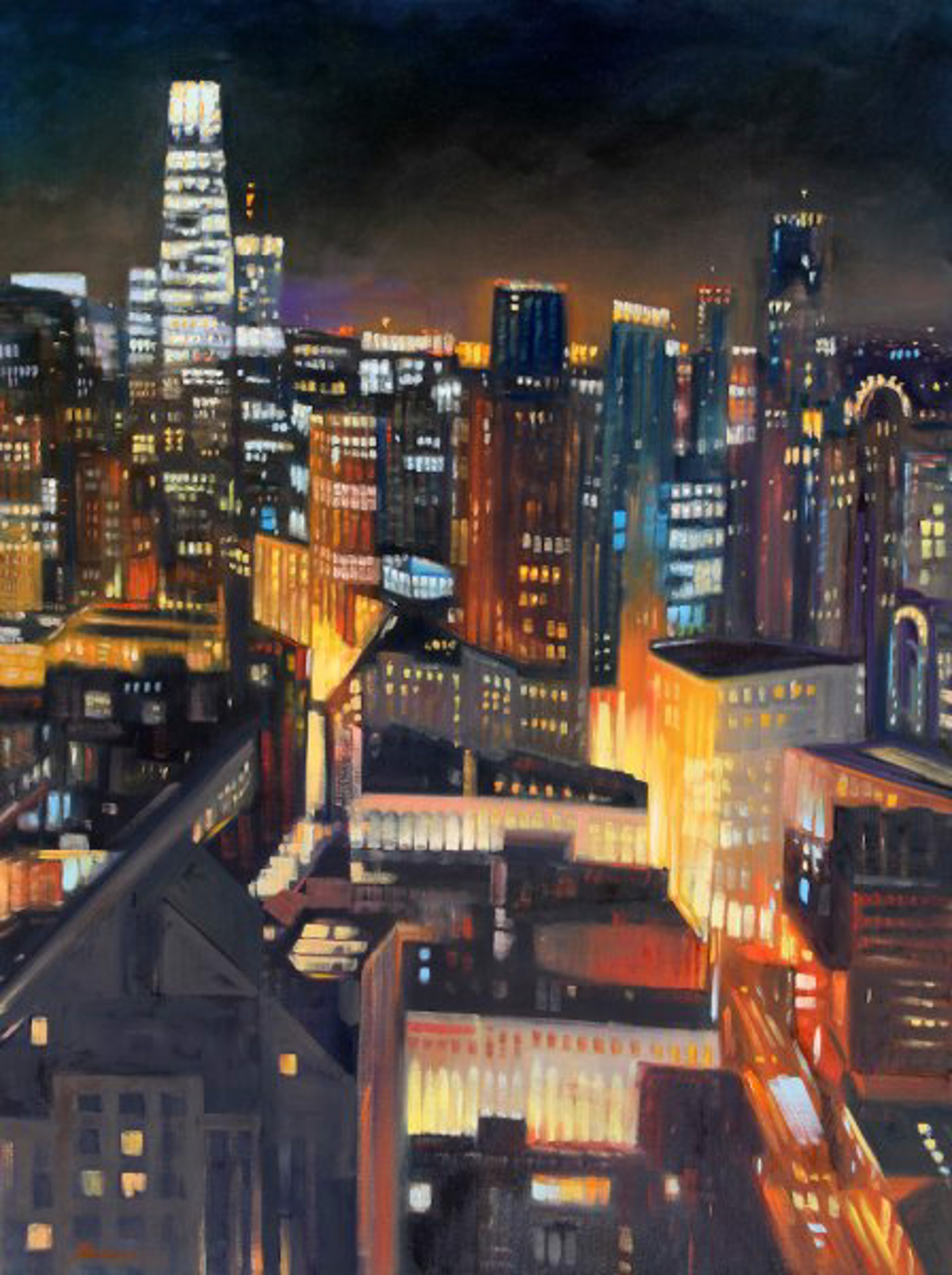 Tom Swimm: San Francisco Skyline by Tom Swimm