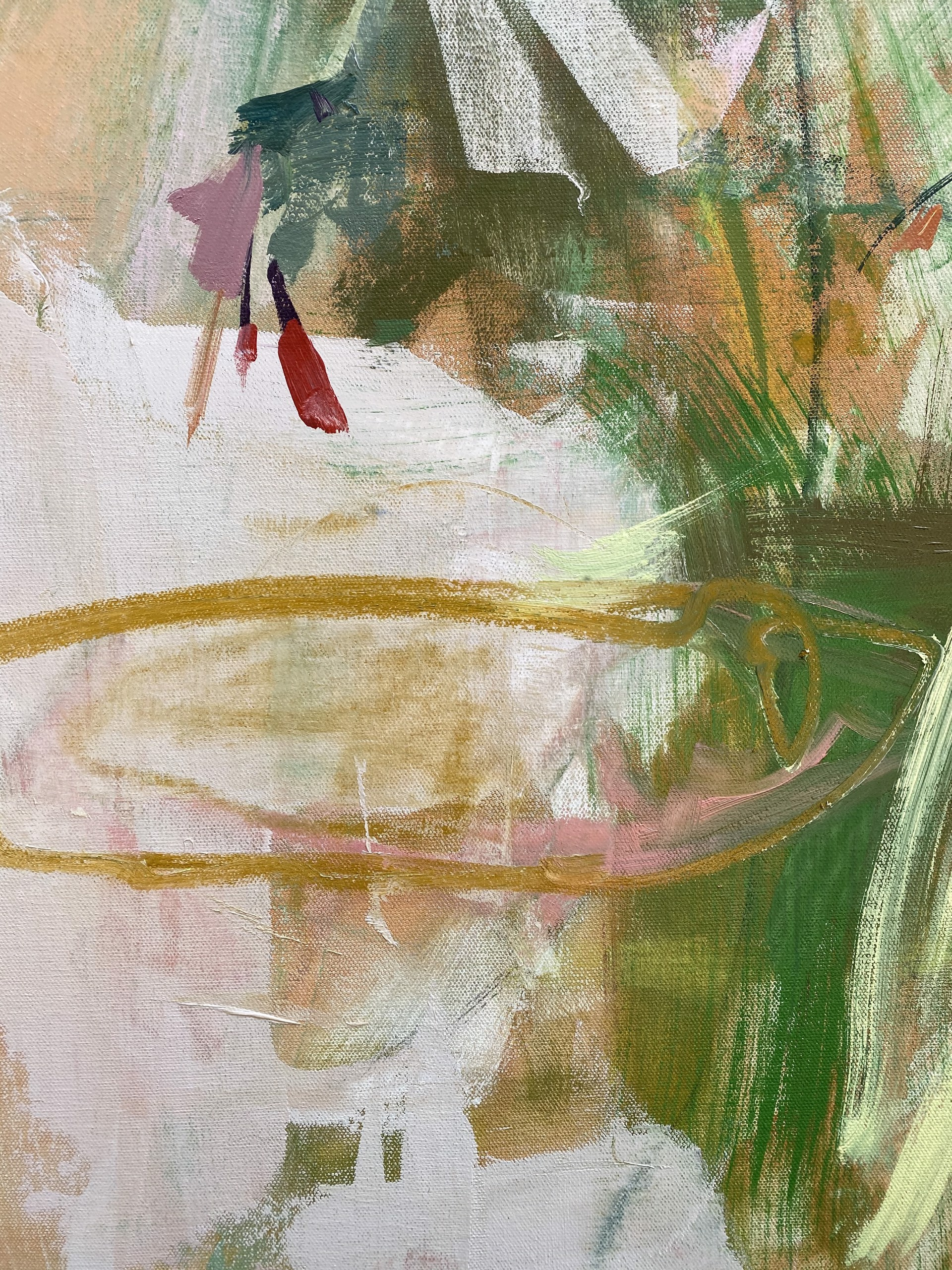 Hostas and Salvia by Marissa Vogl